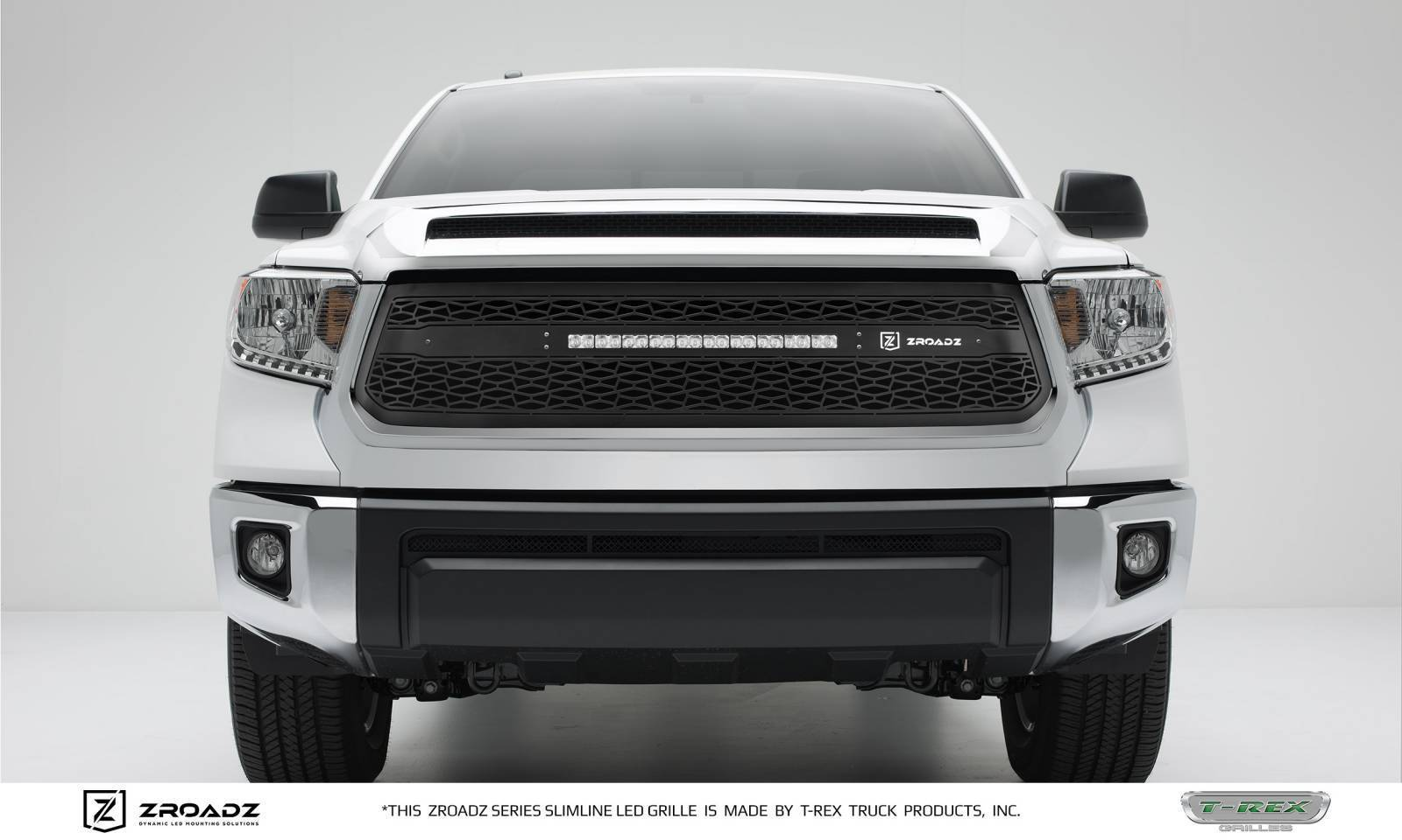 """T-REX Grilles - 2014-2017 Tundra ZROADZ Grille, Black, 1 Pc, Replacement with (1) 20"""" LED - PN #Z319641"""