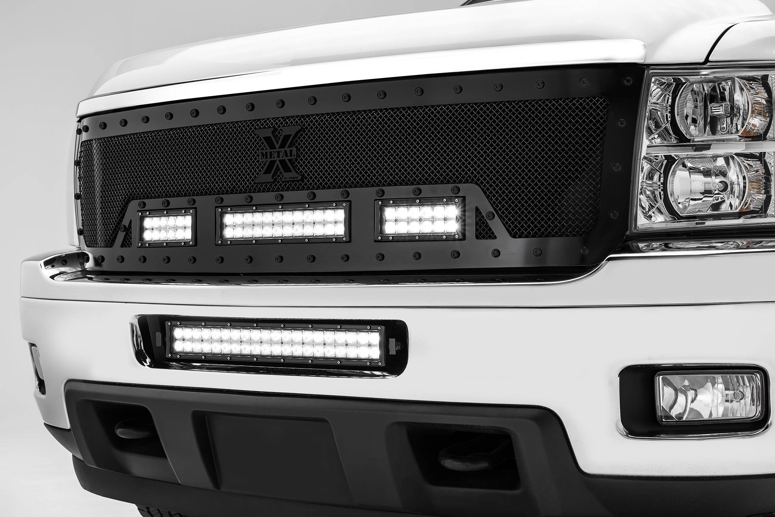 ZROADZ - 2011-2013 Chevrolet Silverado 2500, 3500 Front Bumper Center LED Bracket to mount 20 Inch LED Light Bar - PN #Z321151