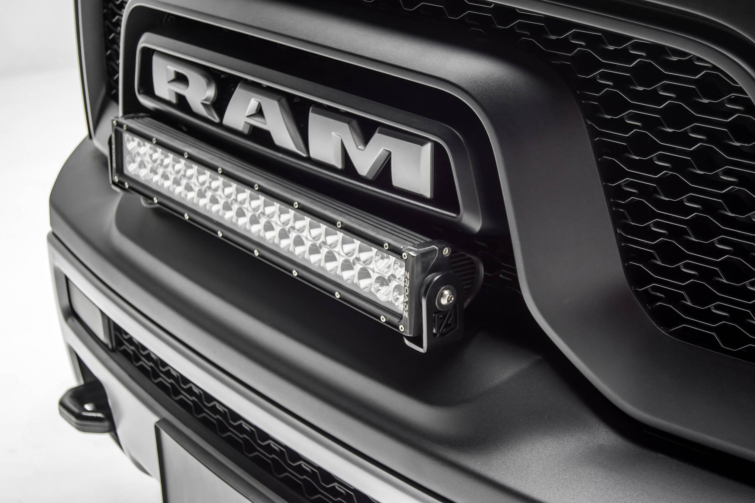 ZROADZ - 2015-2018 Ram Rebel Front Bumper Top LED Bracket to mount (1) 20 Inch LED Light Bar - PN #Z324552