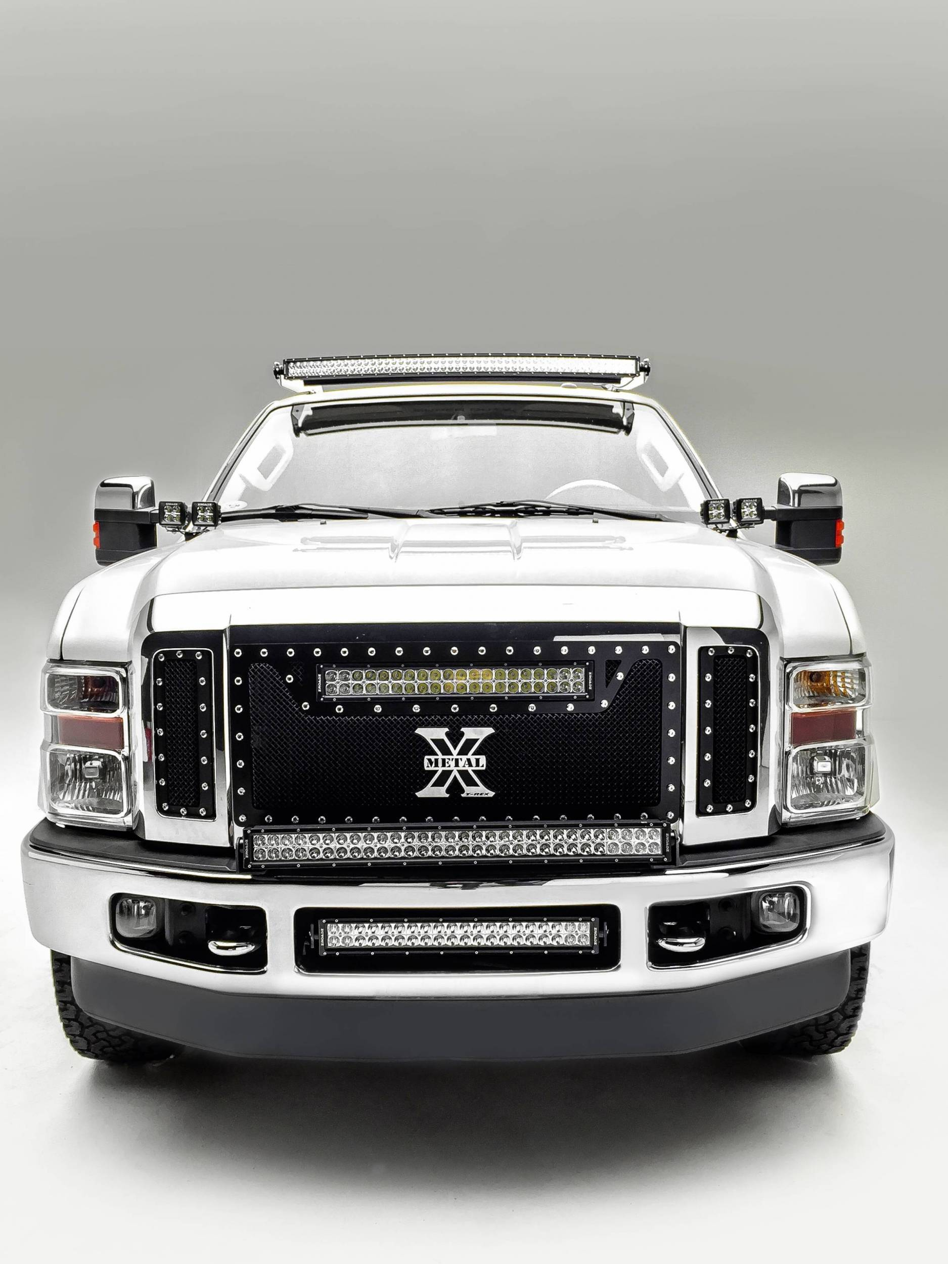 ZROADZ - 2008-2010 Ford Super Duty Front Bumper Top LED Kit with (1) 30 Inch LED Straight Double Row Light Bar - PN #Z325631-KIT