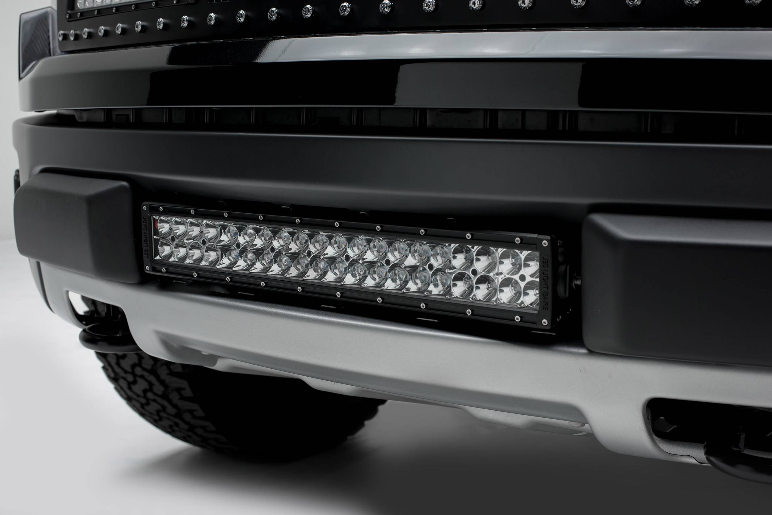 ZROADZ - 2010-2014 Ford F-150 Raptor Front Bumper Center LED Kit with (1) 20 Inch LED Straight Double Row Light Bar - PN #Z325661-KIT