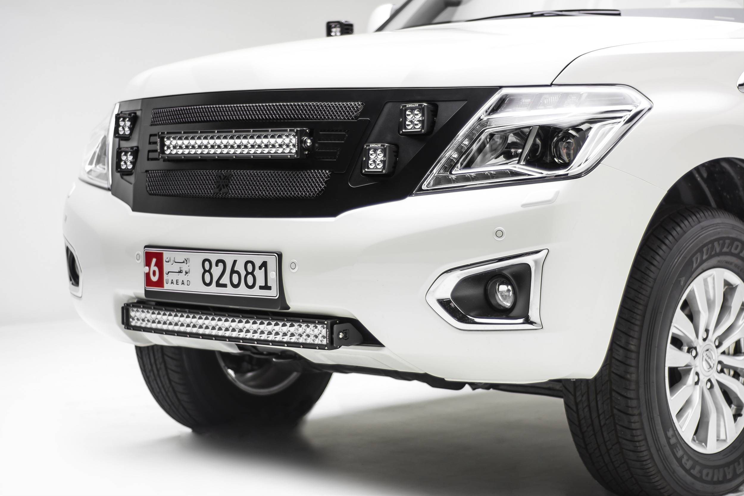 ZROADZ - 2010-2017 Nissan Patrol Y62 Front Bumper Center LED Bracket to mount 30 Inch LED Light Bar - PN #Z327871