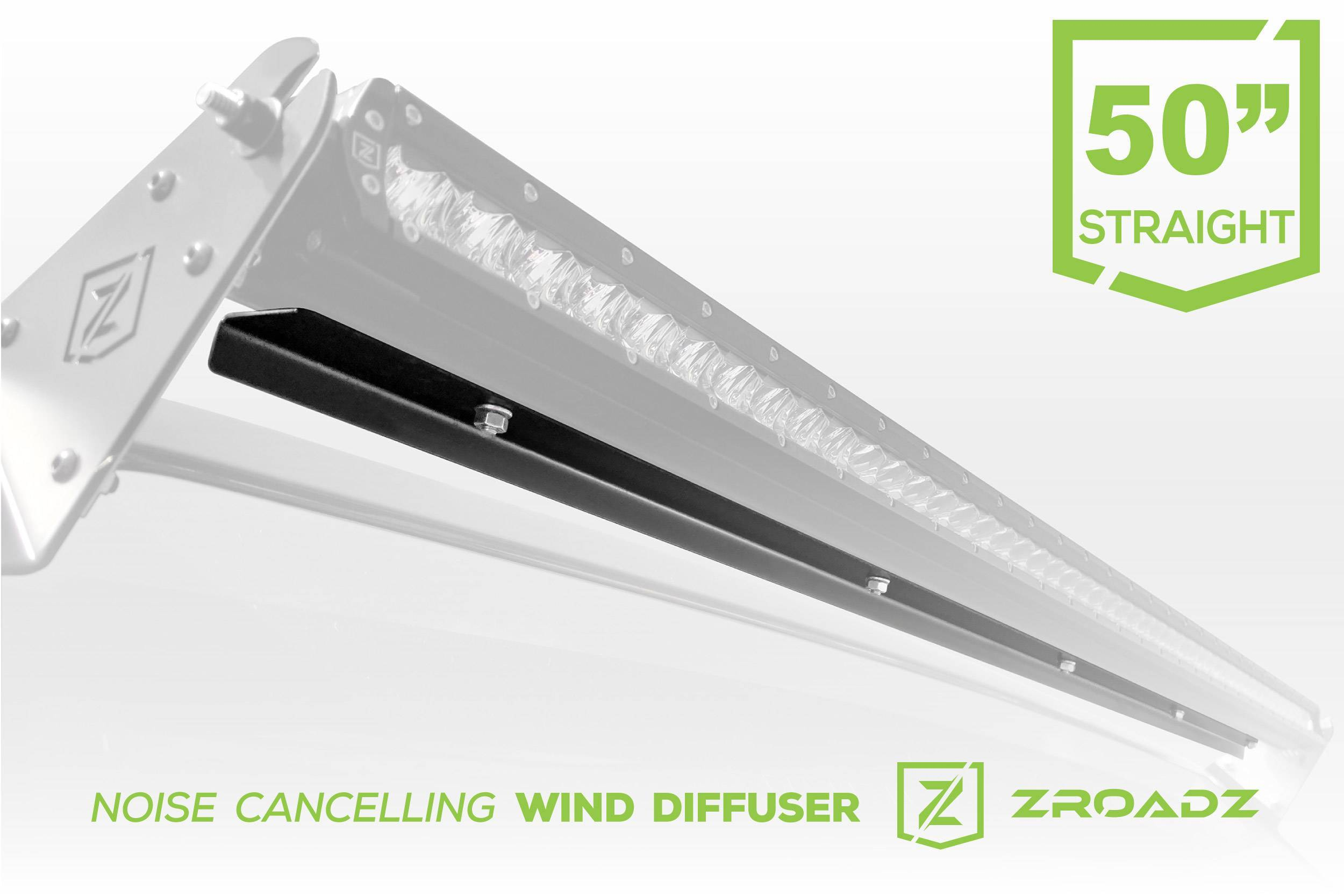 ZROADZ - Noise Cancelling Wind Diffuser for (1) 50 Inch Straight Single Row LED Light Bar - PN #Z330051S