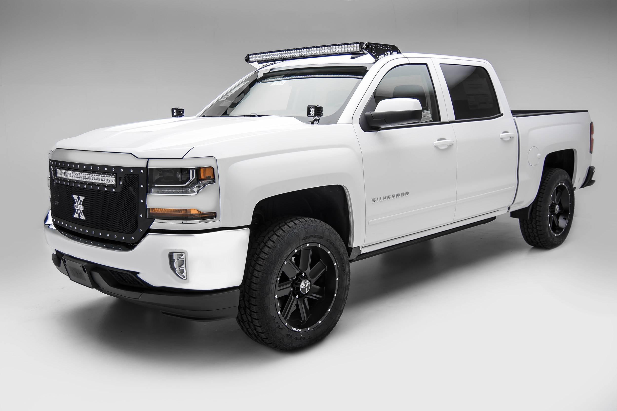 ZROADZ - Silverado, Sierra Front Roof LED Bracket to mount (1) 50 Inch Curved LED Light Bar - PN #Z332081