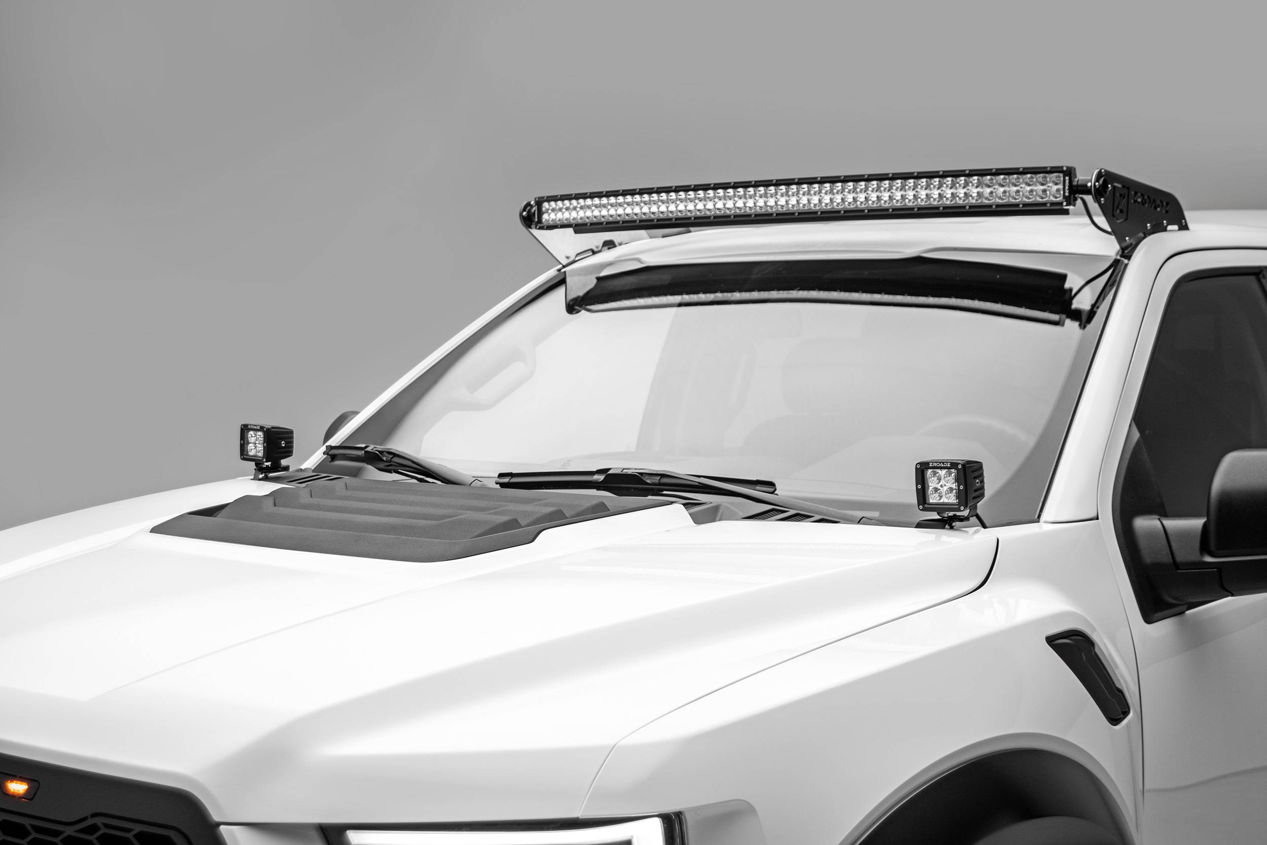 ZROADZ OFF ROAD PRODUCTS - Ford F-150, Raptor Front Roof LED Bracket to mount 52 Inch Curved LED Light Bar - PN #Z335662