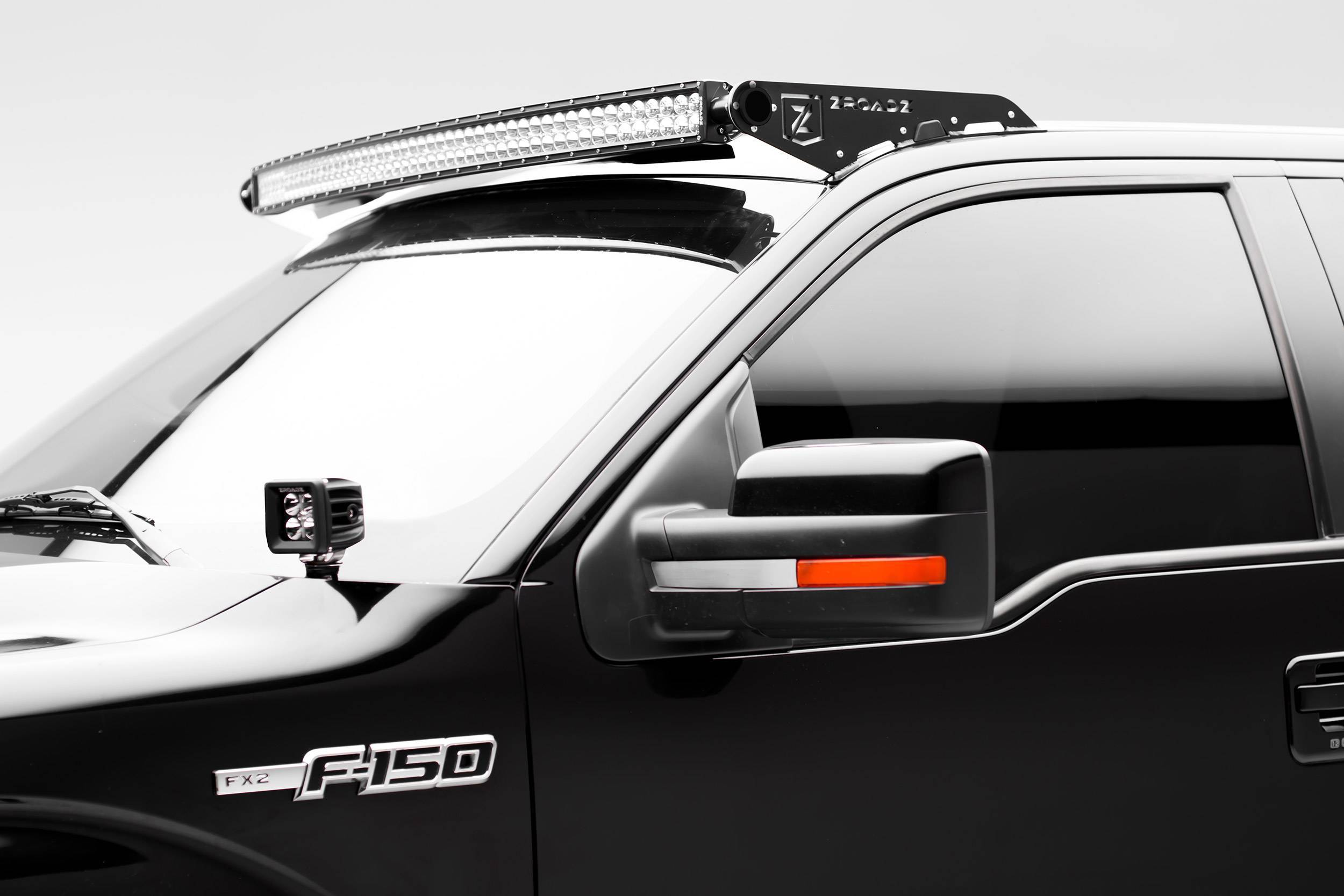 ZROADZ - Ford Front Roof LED Kit with (1) 52 Inch LED Curved Double Row Light Bar - PN #Z335721-KIT-C