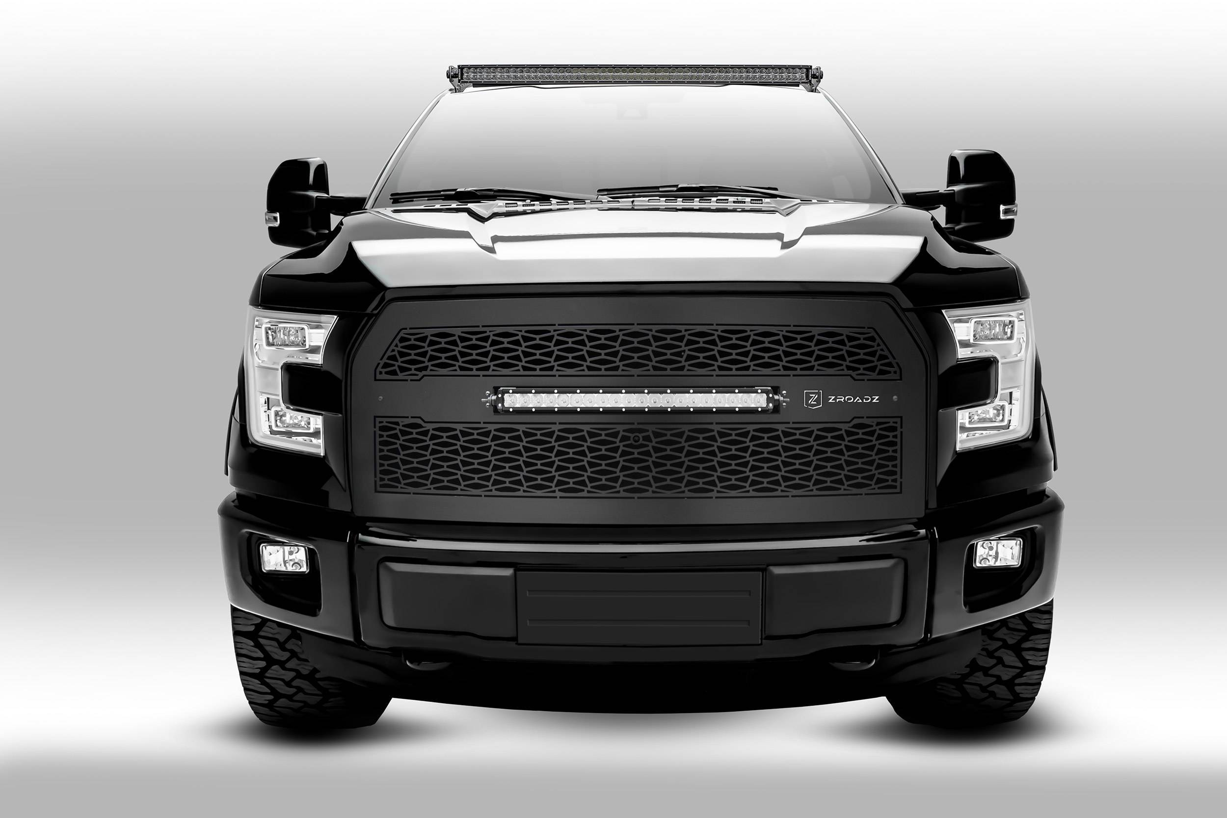 ZROADZ - 2015-2020 Ford F-150 Front Roof LED Bracket to mount 50 Inch Curved LED Light Bar - PN #Z335731