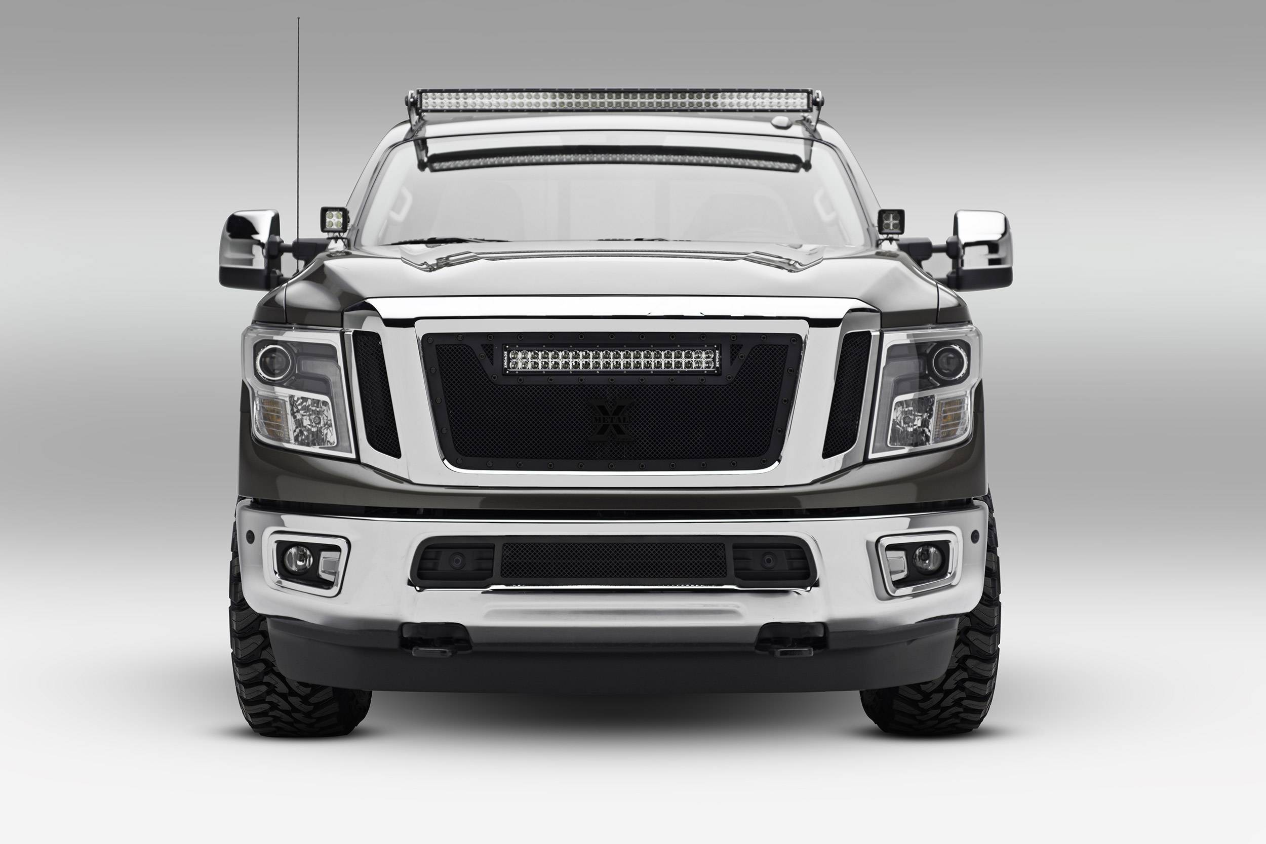 ZROADZ OFF ROAD PRODUCTS - 2016-2019 Nissan Titan Front Roof LED Bracket to mount (1) 50 Inch Staight LED Light Bar - PN #Z337181