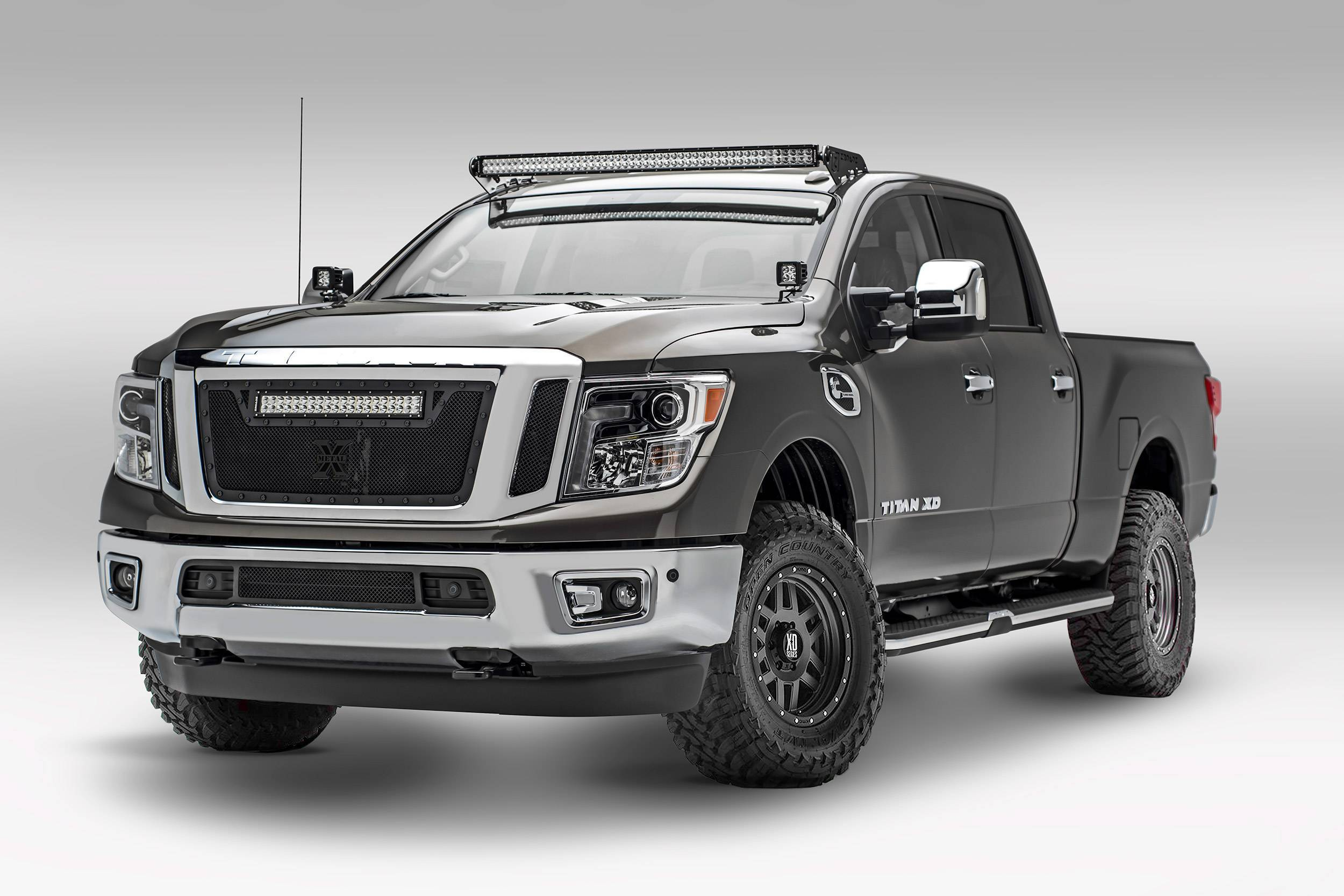 ZROADZ - 2016-2019 Nissan Titan Front Roof LED Kit with (1) 50 Inch LED Curved Double Row Light Bar - PN #Z337581-KIT-C