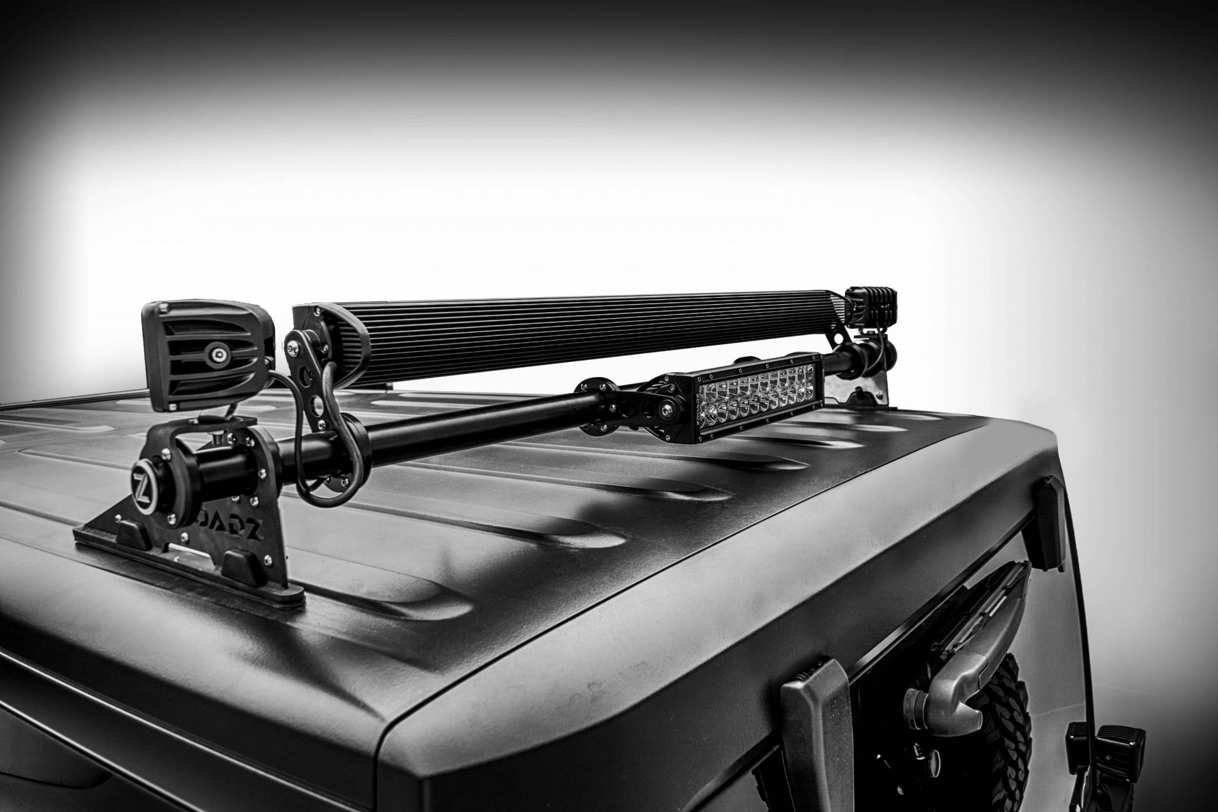 ZROADZ - Jeep JK, JL Modular Rack LED Bracket adjustable to mount up to (4) various size LED Light Bars - PN #Z350050-JK