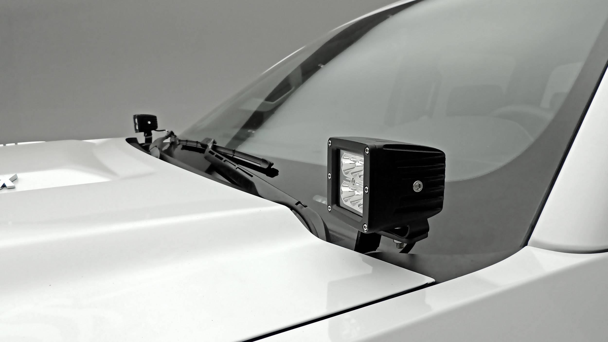 ZROADZ OFF ROAD PRODUCTS - 2015-2019 Silverado 2500, 3500 Hood Hinge LED Bracket to mount (2) 3 Inch LED Pod Lights - PN #Z361221