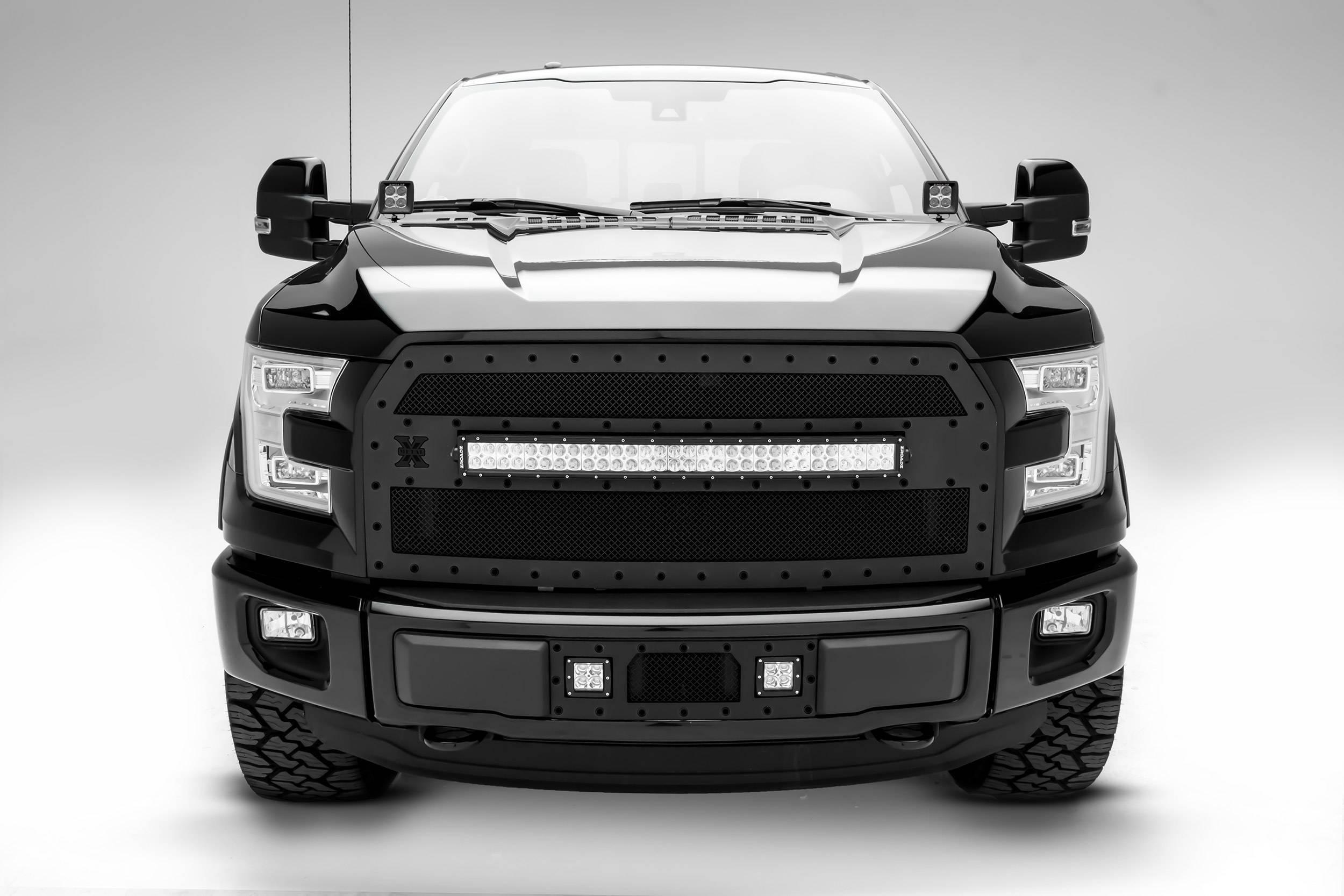 ZROADZ - 2015-2017 Ford F-150 Hood Hinge LED Bracket to mount (2) 3 Inch LED Pod Lights - PN #Z365731