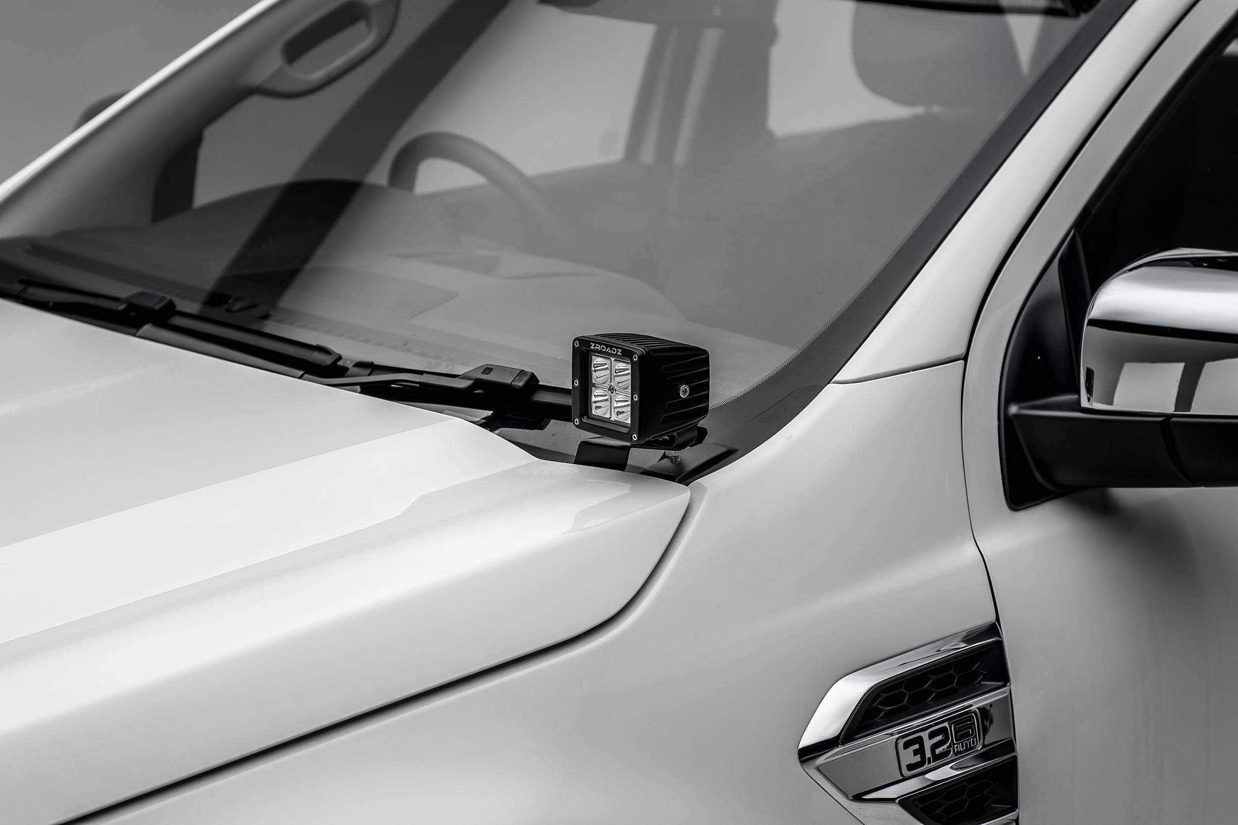 ZROADZ OFF ROAD PRODUCTS - 2015-2018 Ford Ranger T6 Hood Hinge LED Kit with (2) 3 Inch LED Pod Lights - PN #Z365761-KIT2