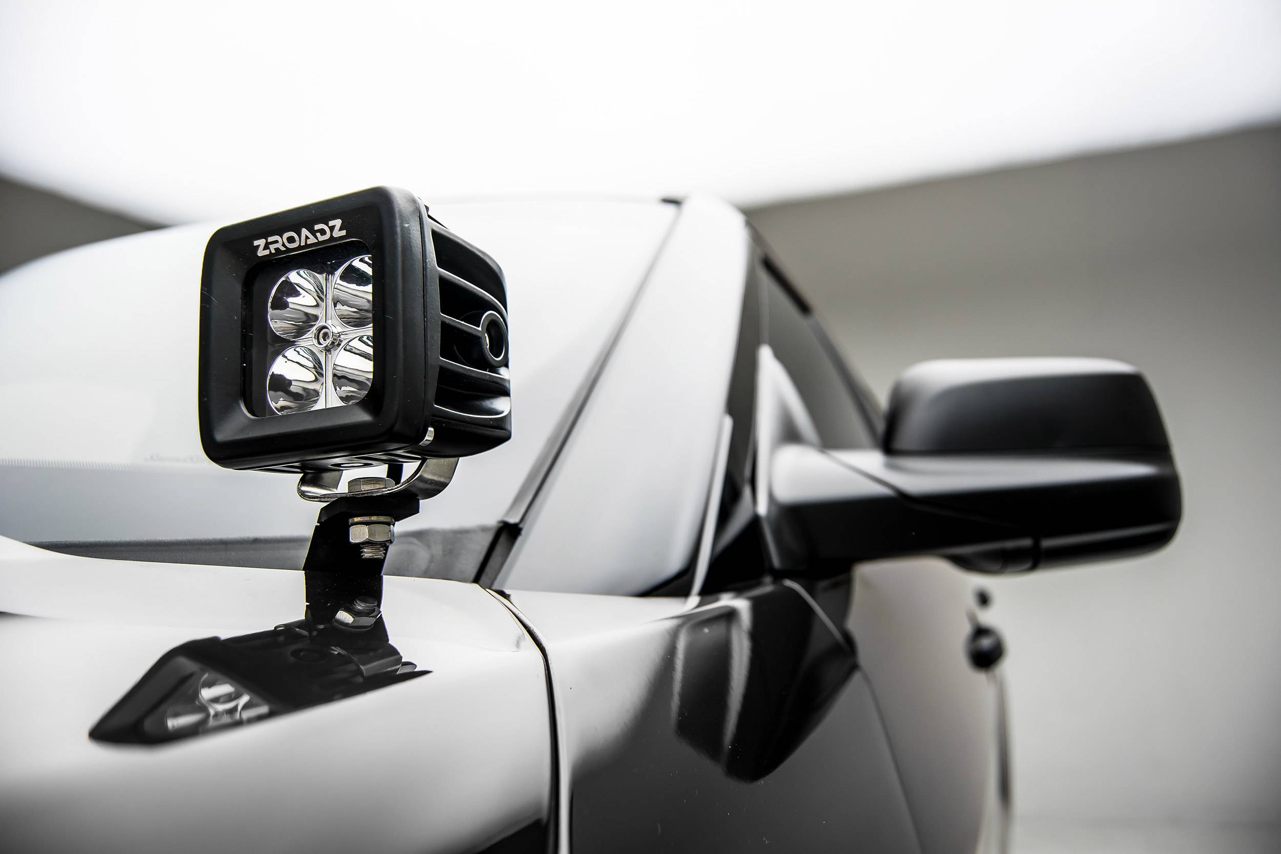 ZROADZ - 2016-2017 Ford Explorer Hood Hinge LED Bracket to mount (2) 3 Inch LED Pod Lights - PN #Z366641