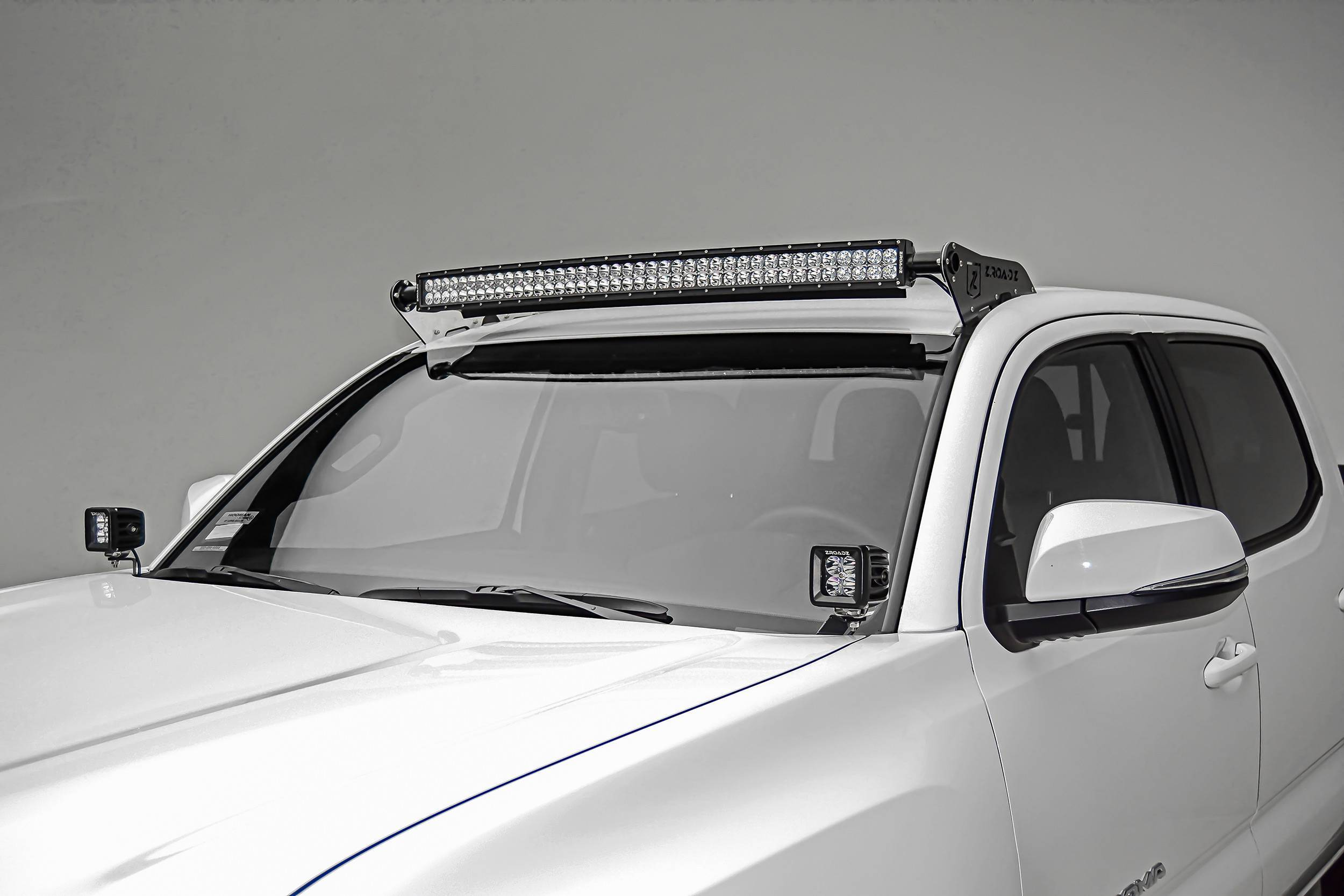 ZROADZ - 2016-2021 Toyota Tacoma Hood Hinge LED Bracket to mount (2) 3 Inch LED Pod Lights - PN #Z369401