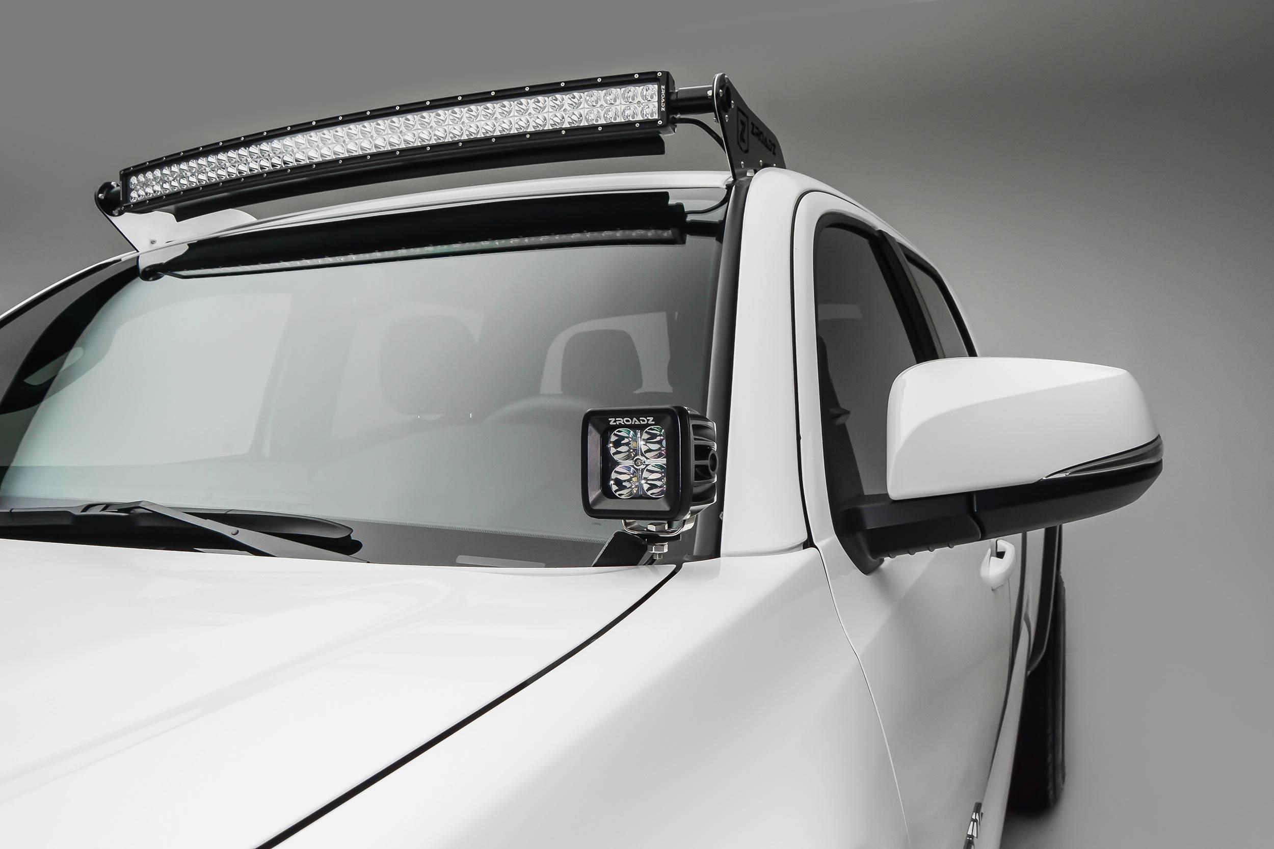 ZROADZ OFF ROAD PRODUCTS - 2016-2021 Toyota Tacoma Hood Hinge LED Kit with (2) 3 Inch LED Pod Lights - PN #Z369401-KIT2