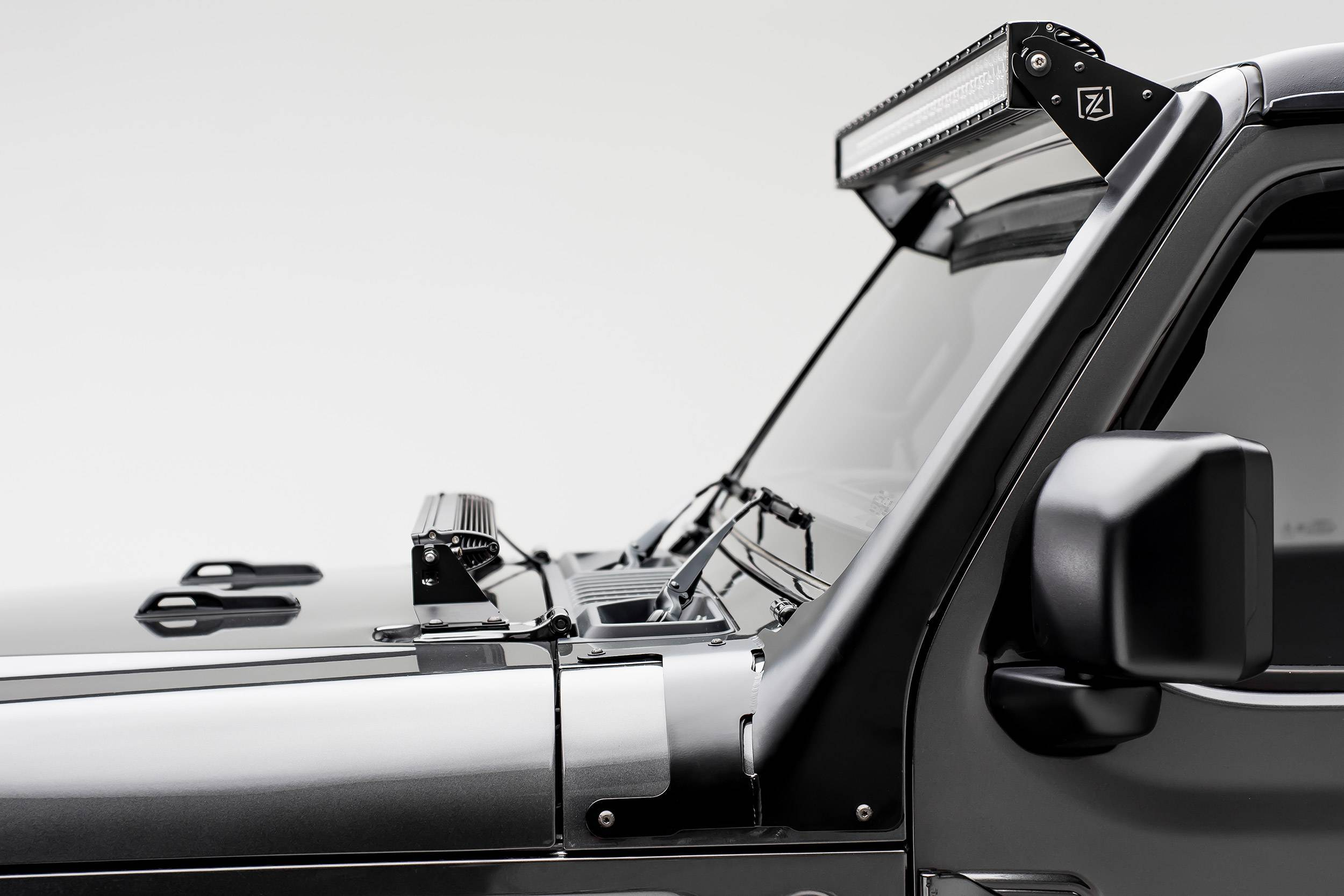 ZROADZ - Jeep JL, Gladiator Front Roof LED Bracket to mount (1) 50 or 52 Inch Staight LED Light Bar - PN #Z374831