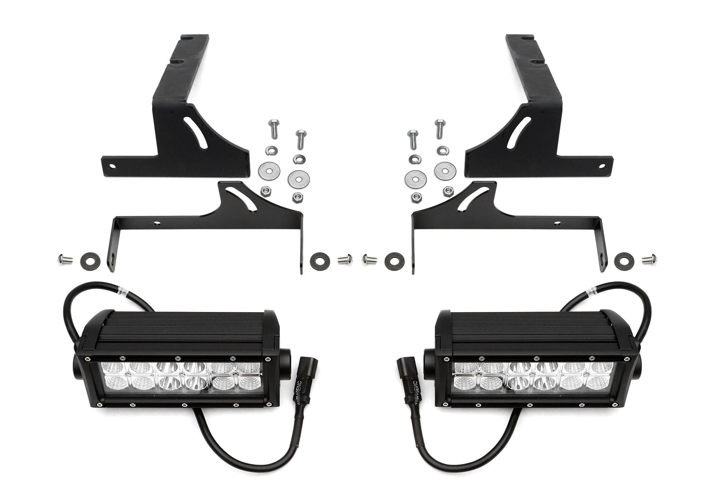 ZROADZ - 2015-2019 Silverado, Sierra HD Rear Bumper LED Bracket to mount (2) 6 Inch Straight Light Bar - PN #Z381221