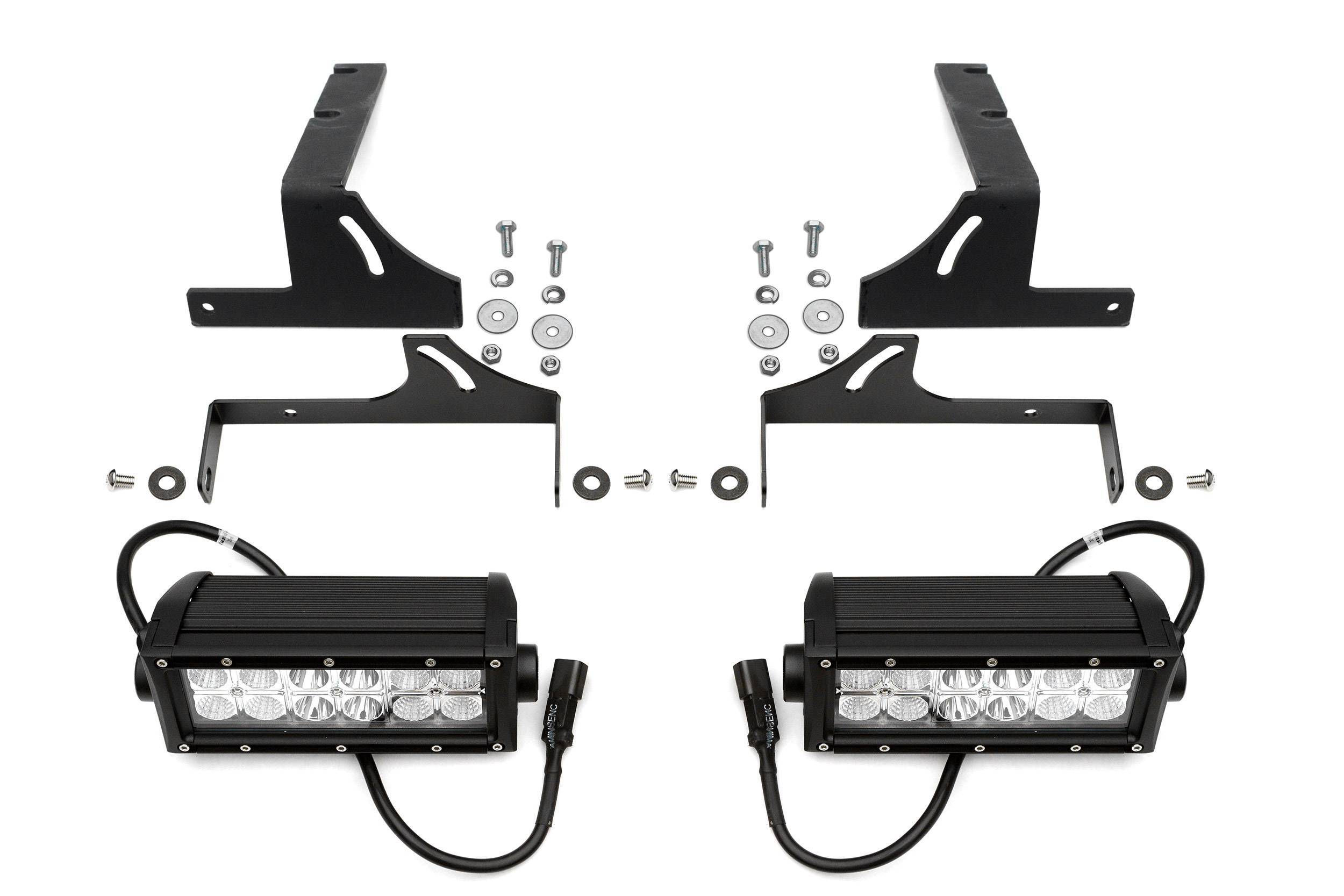 ZROADZ - 2015-2019 Silverado, Sierra HD Diesel models - Rear Bumper LED Kit with (2) 6 Inch LED Straight Double Row Light Bars - PN #Z381421-KIT