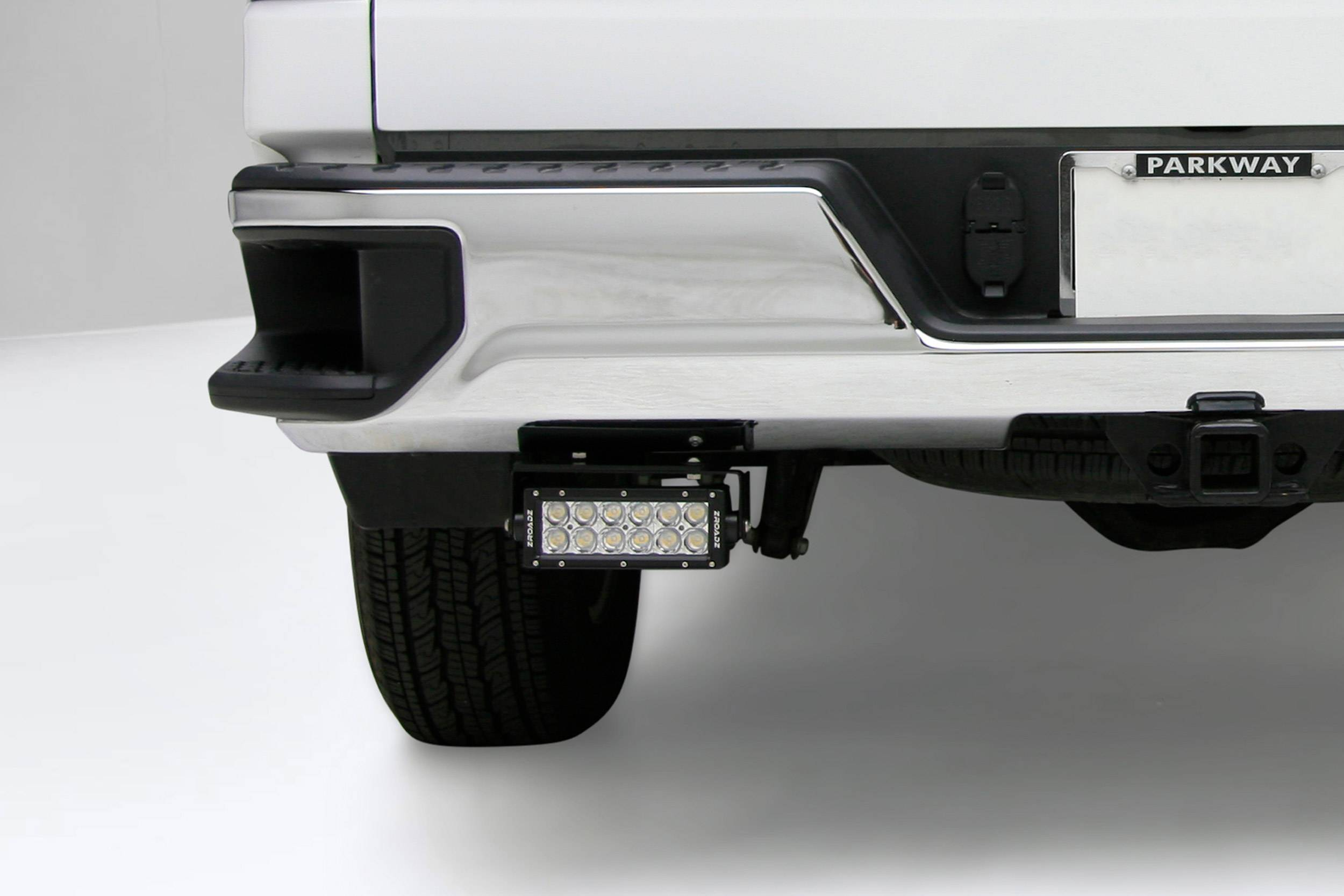 ZROADZ - 2019-2021 Silverado, Sierra 1500 Rear Bumper LED Kit with (2) 6 Inch LED Straight Double Row Light Bars - PN #Z382182-KIT