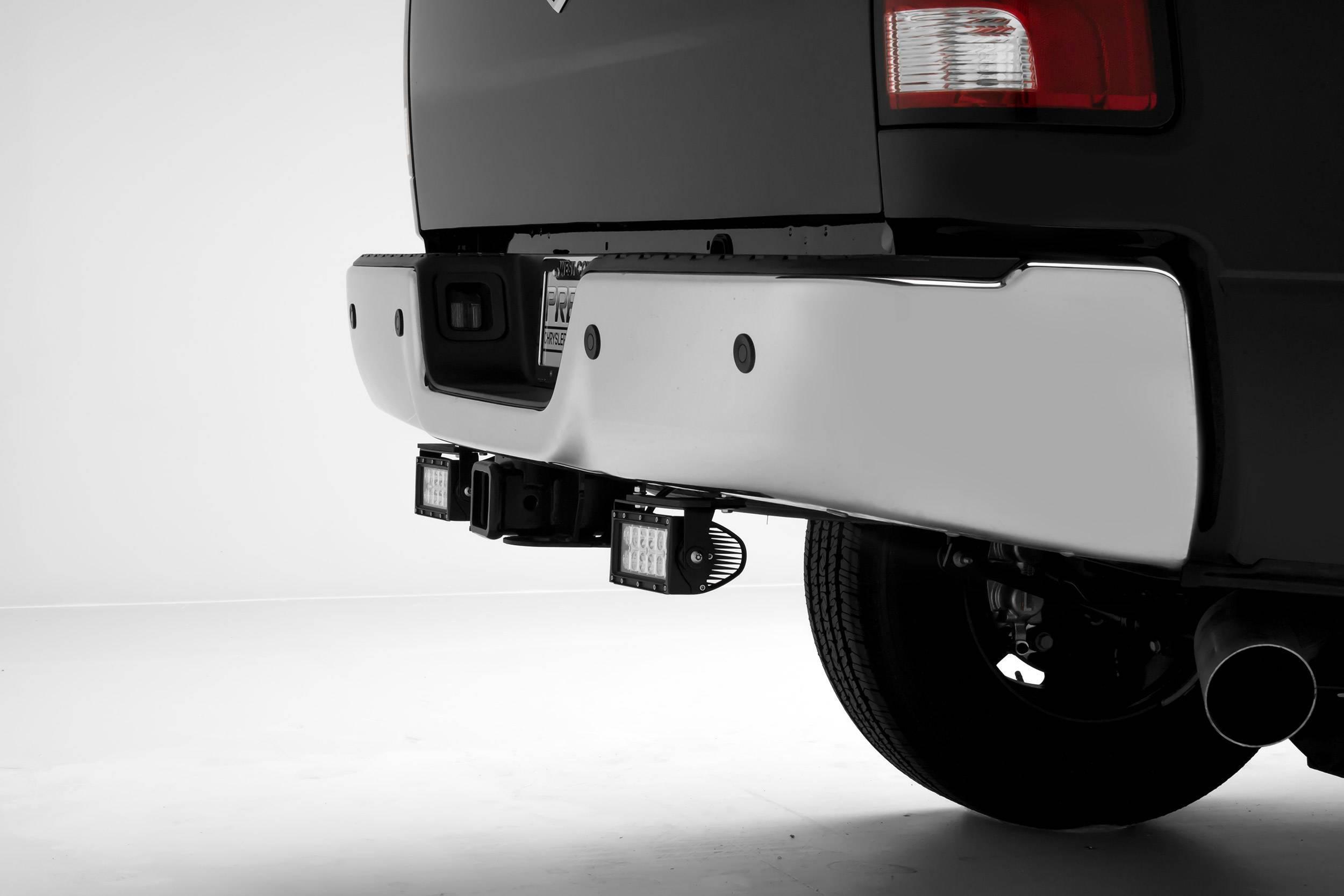 ZROADZ - Ram Rear Bumper LED Kit with (2) 6 Inch LED Straight Double Row Light Bars - PN #Z384521-KIT