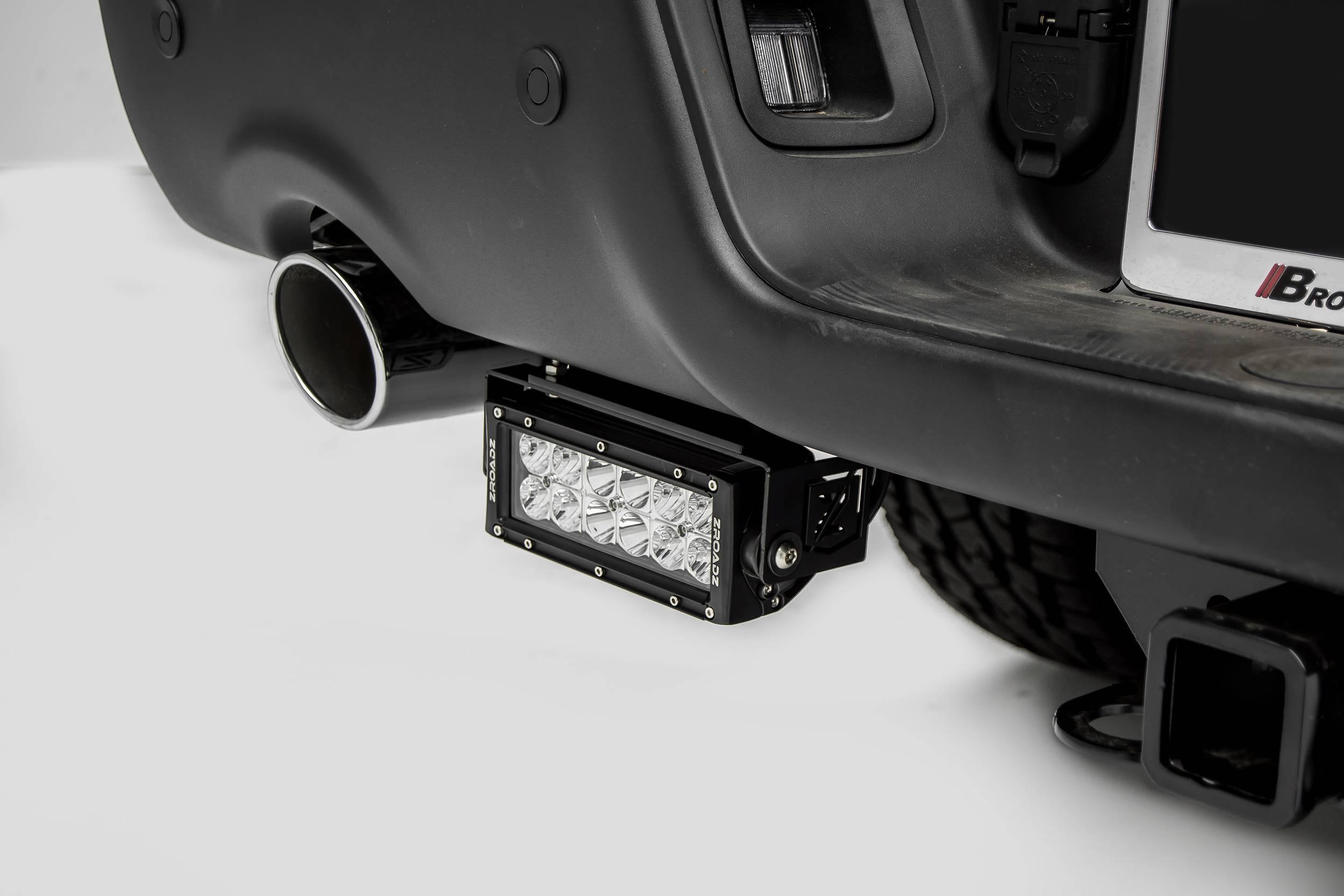 ZROADZ - 2015-2018 Ram Rebel Rear Bumper LED Bracket to mount (2) 6 Inch Straight Light Bar - PN #Z384551