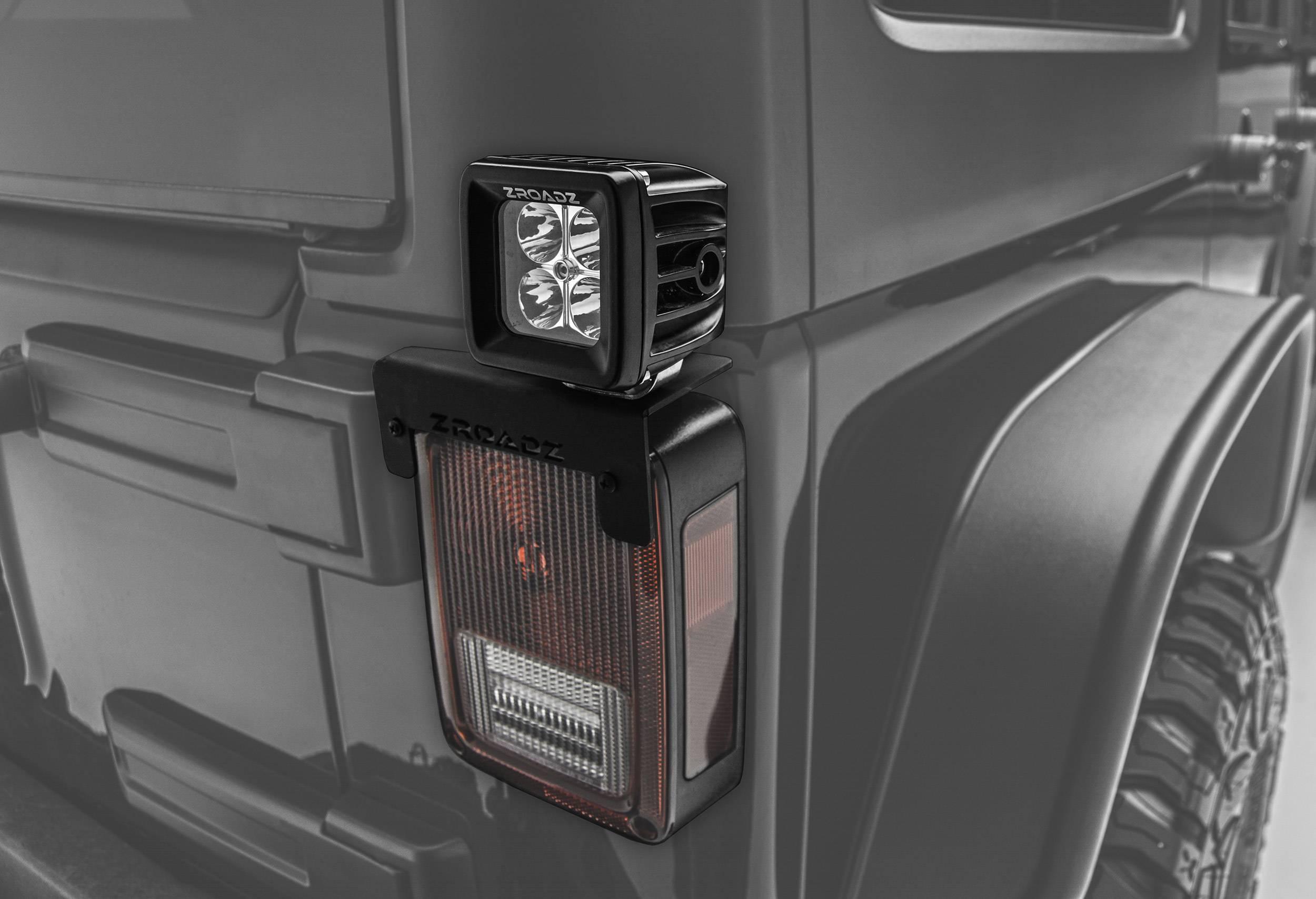 ZROADZ - 2007-2018 Jeep JK Tail Light Top LED Kit with (2) 3 Inch LED Pod Lights - PN #Z384812-KIT