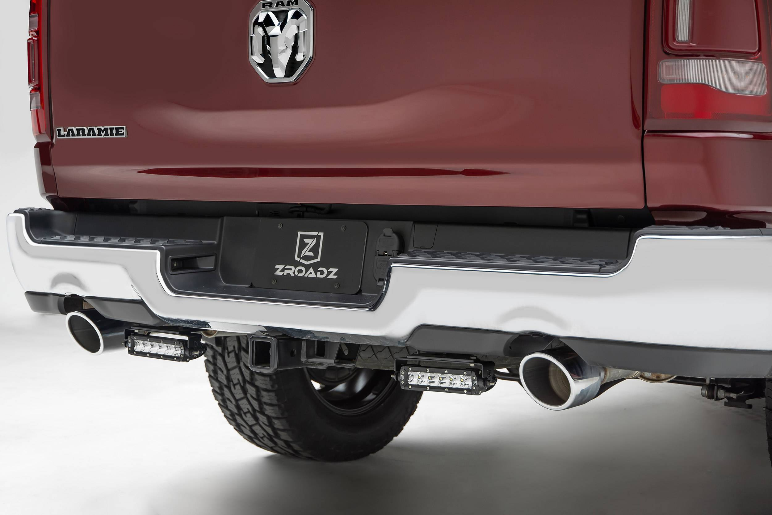ZROADZ OFF ROAD PRODUCTS - 2019-2021 Ram 1500 Rear Bumper LED Bracket to mount (2) 6 Inch Straight Single Row Light Bar - PN #Z384821