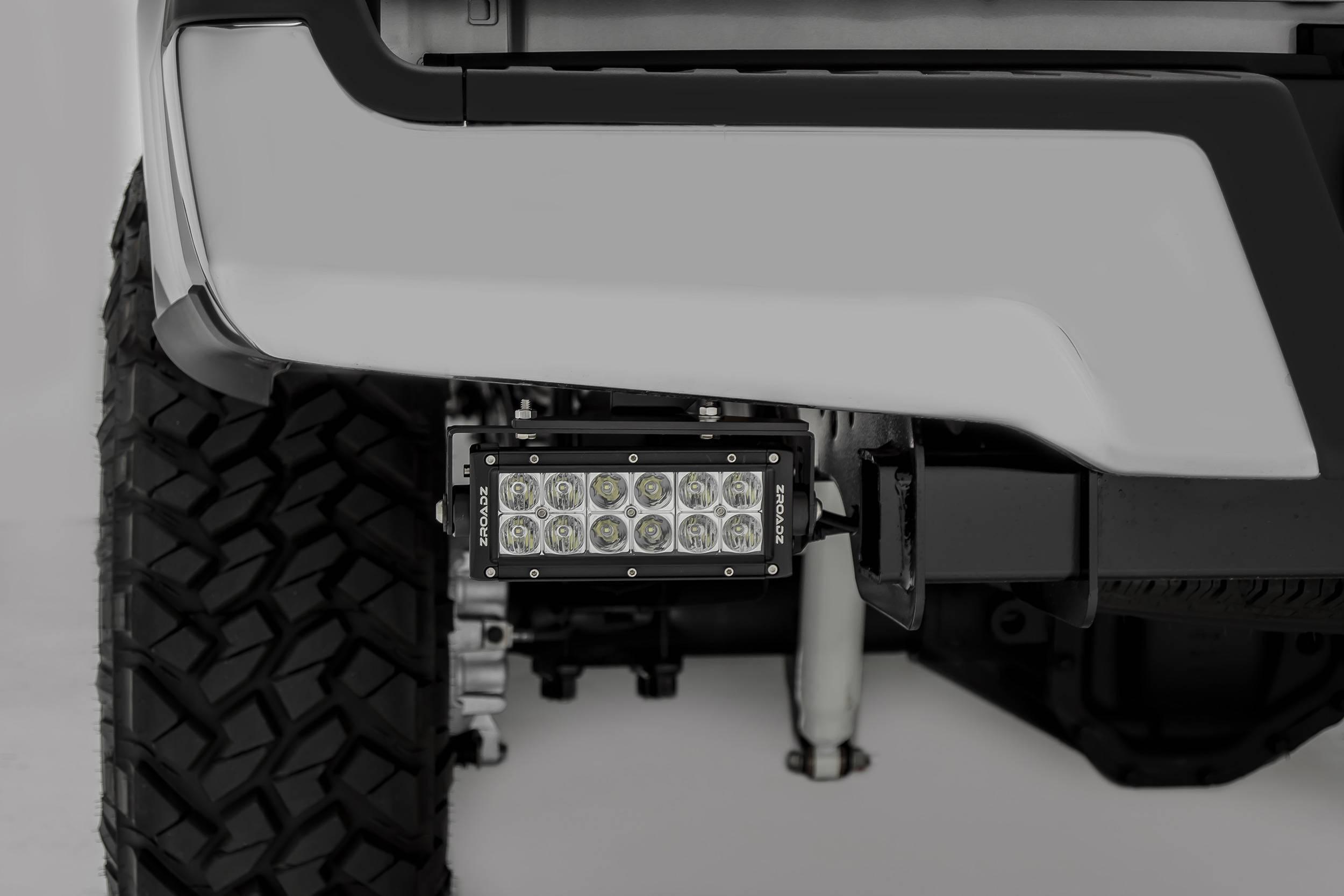 ZROADZ OFF ROAD PRODUCTS - 2017-2021 Ford Super Duty Rear Bumper LED Bracket to mount (2) 6 Inch Straight Light Bar - PN #Z385471