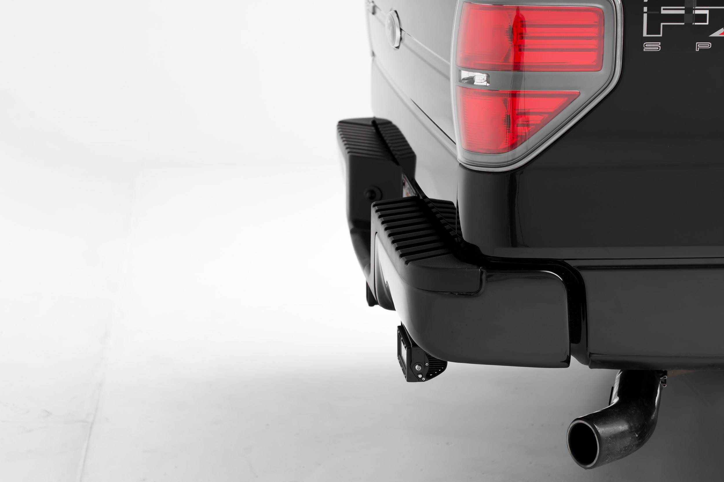 ZROADZ - 2009-2014 Ford F-150 Rear Bumper LED Kit with (2) 6 Inch LED Straight Double Row Light Bars - PN #Z385721-KIT
