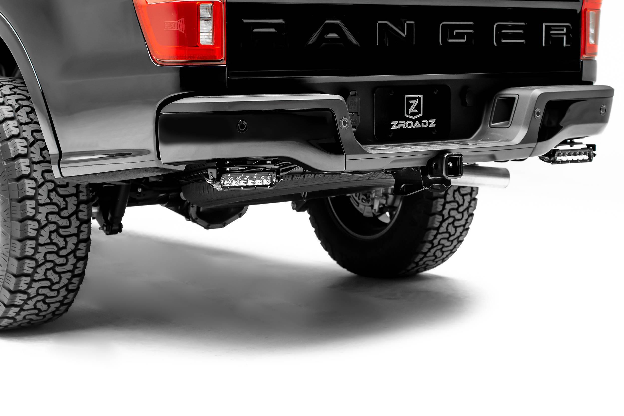 ZROADZ - 2019-2021 Ford Ranger Rear Bumper LED Bracket to mount (2) 6 Inch Straight Single Row Slim Light Bar - PN #Z385881
