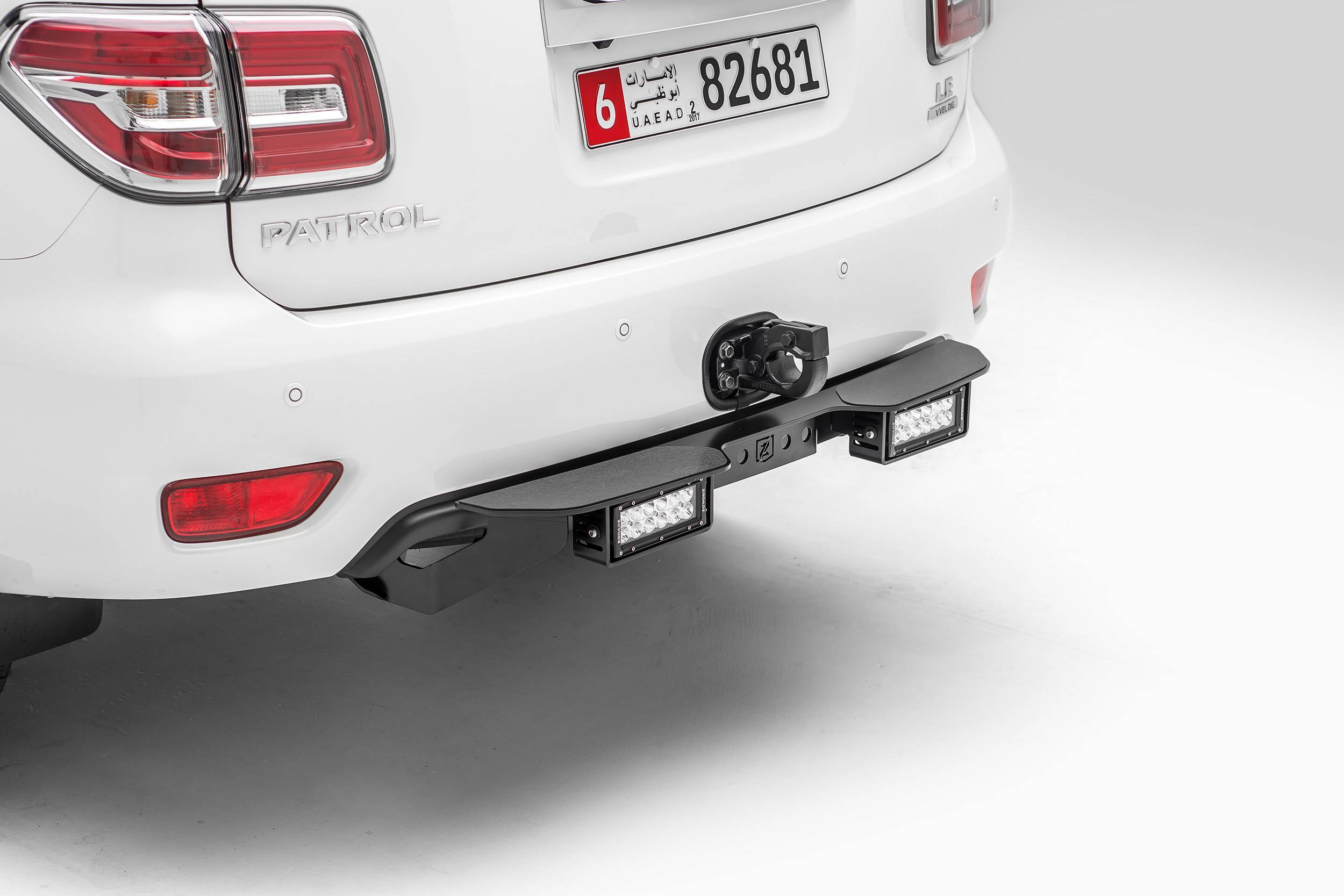 ZROADZ - 2010-2017 Nissan Patrol Y62 Rear Bumper LED Kit with (2) 6 Inch LED Straight Double Row Light Bars - PN #Z387871-KIT