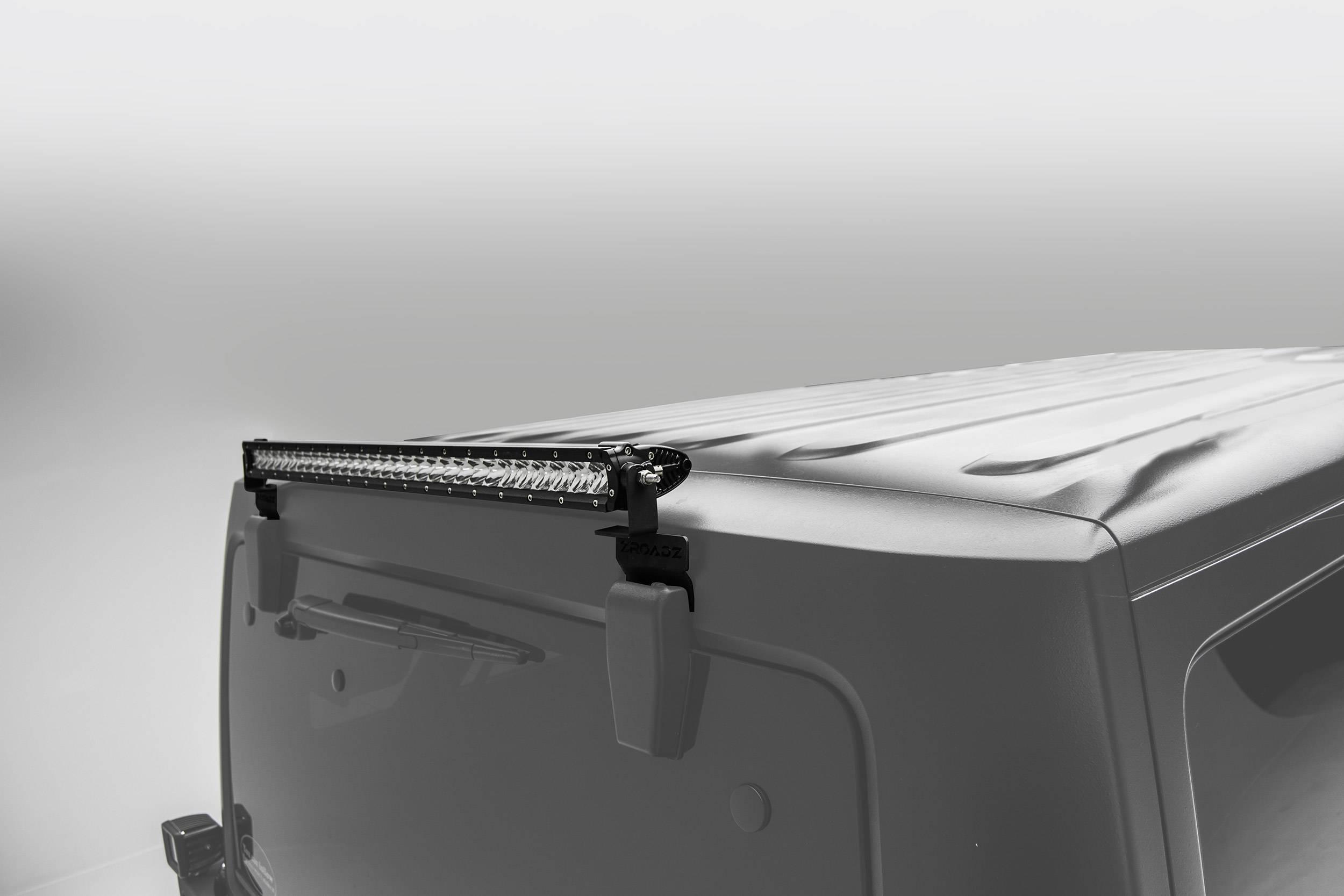 ZROADZ OFF ROAD PRODUCTS - 2007-2018 Jeep JK Rear Window LED Bracket to mount (1) 30 Inch Staight Single Row LED Light Bar - PN #Z394811