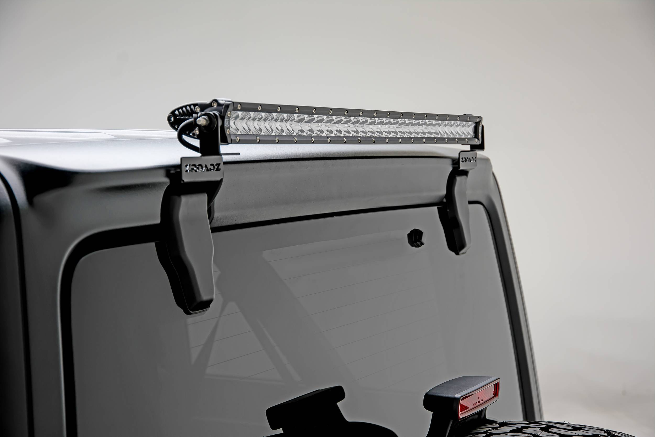 ZROADZ OFF ROAD PRODUCTS - 2018-2021 Jeep JL Rear Window LED Bracket to mount (1) 30 Inch Staight Single Row LED Light Bar - PN #Z394931
