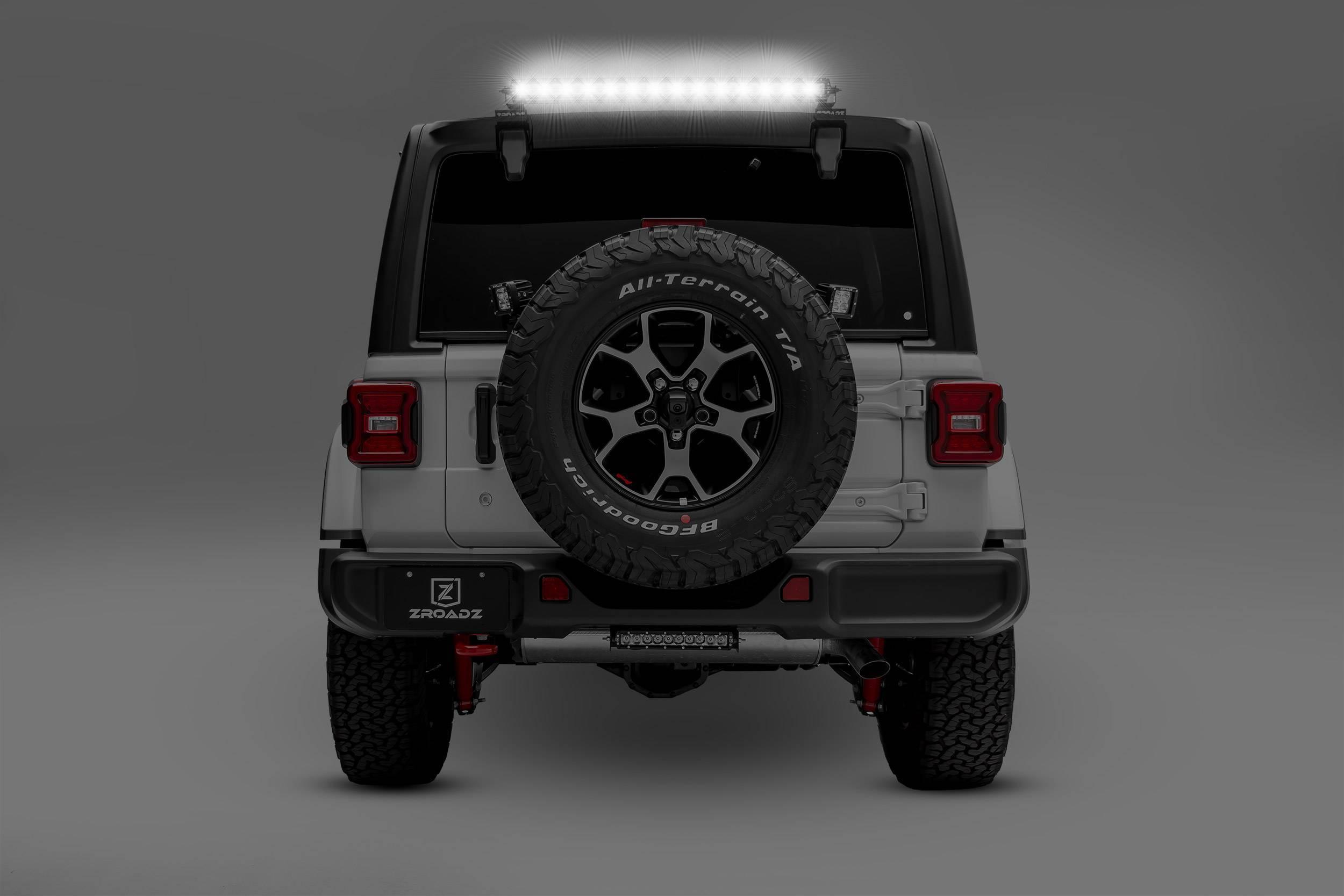 ZROADZ - 2018-2021 Jeep JL Rear Window LED Kit with (1) 30 Inch LED Straight Single Row Slim Light Bar - PN #Z394931-KIT