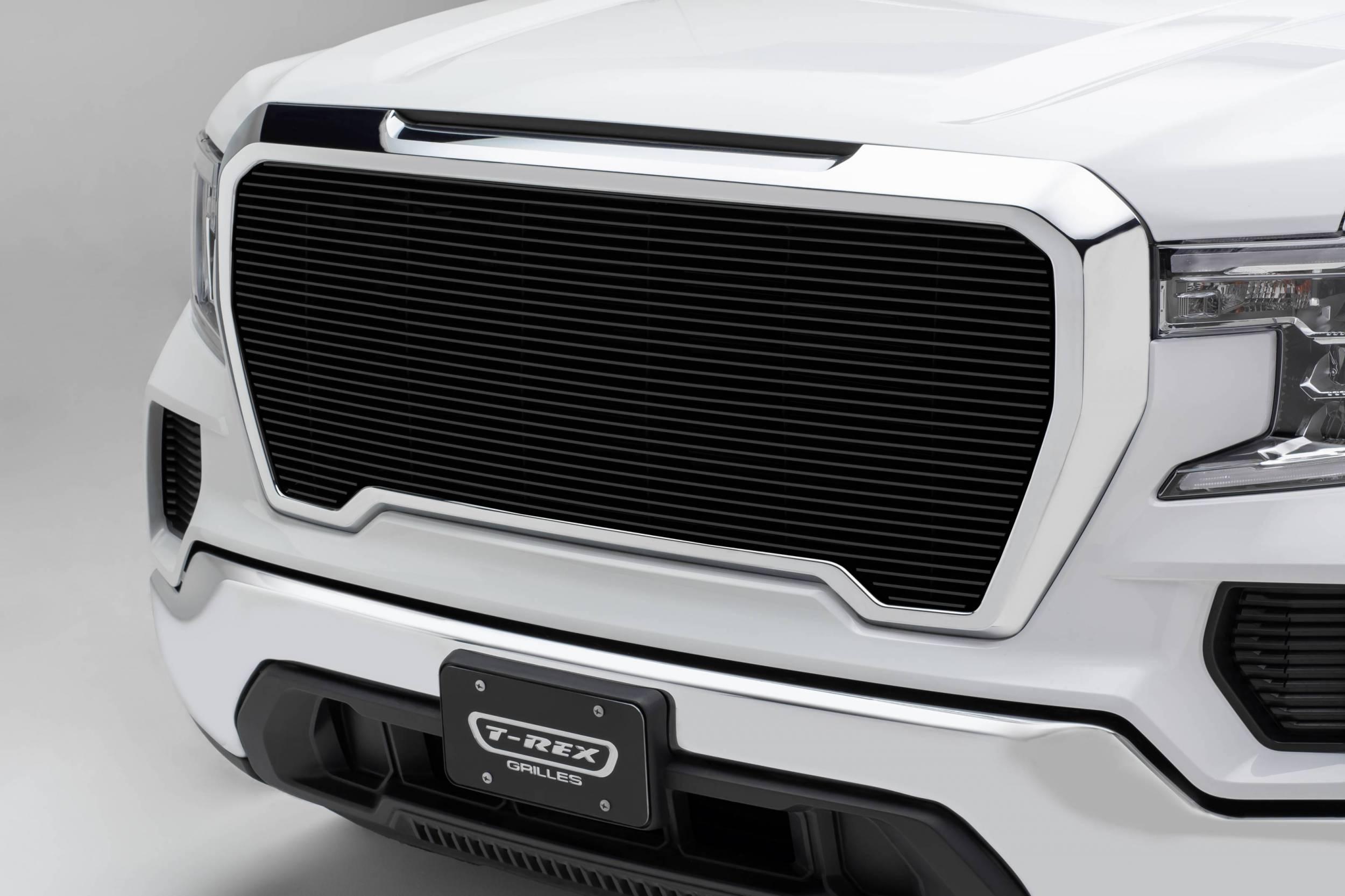 T-REX Grilles - 2019-2021 GMC Sierra 1500 Billet Grille, Black, Aluminum, 1 Pc, Insert - PN #20213B