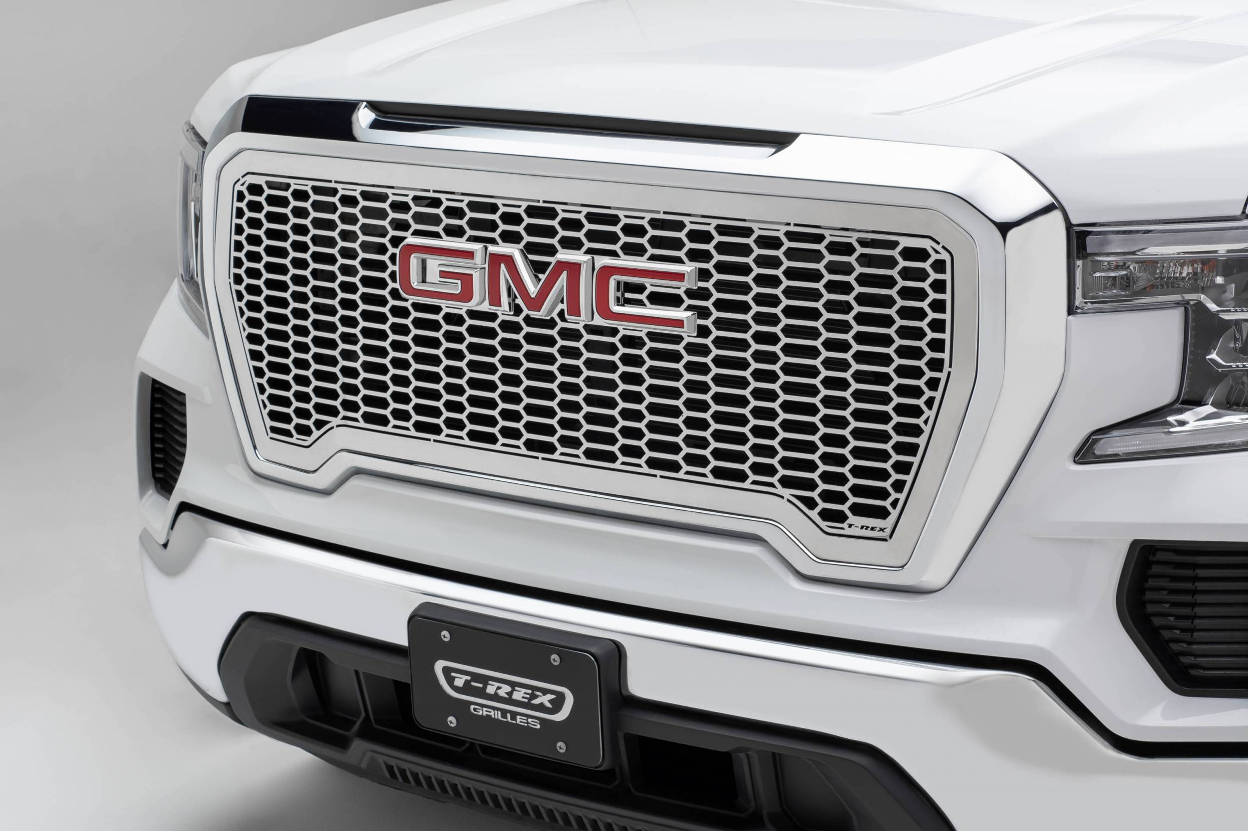 T-REX Grilles - 2019-2021 GMC Sierra 1500 Laser X Grille, Polished, Stainless Steel, 1 Pc, Insert - PN #7712280