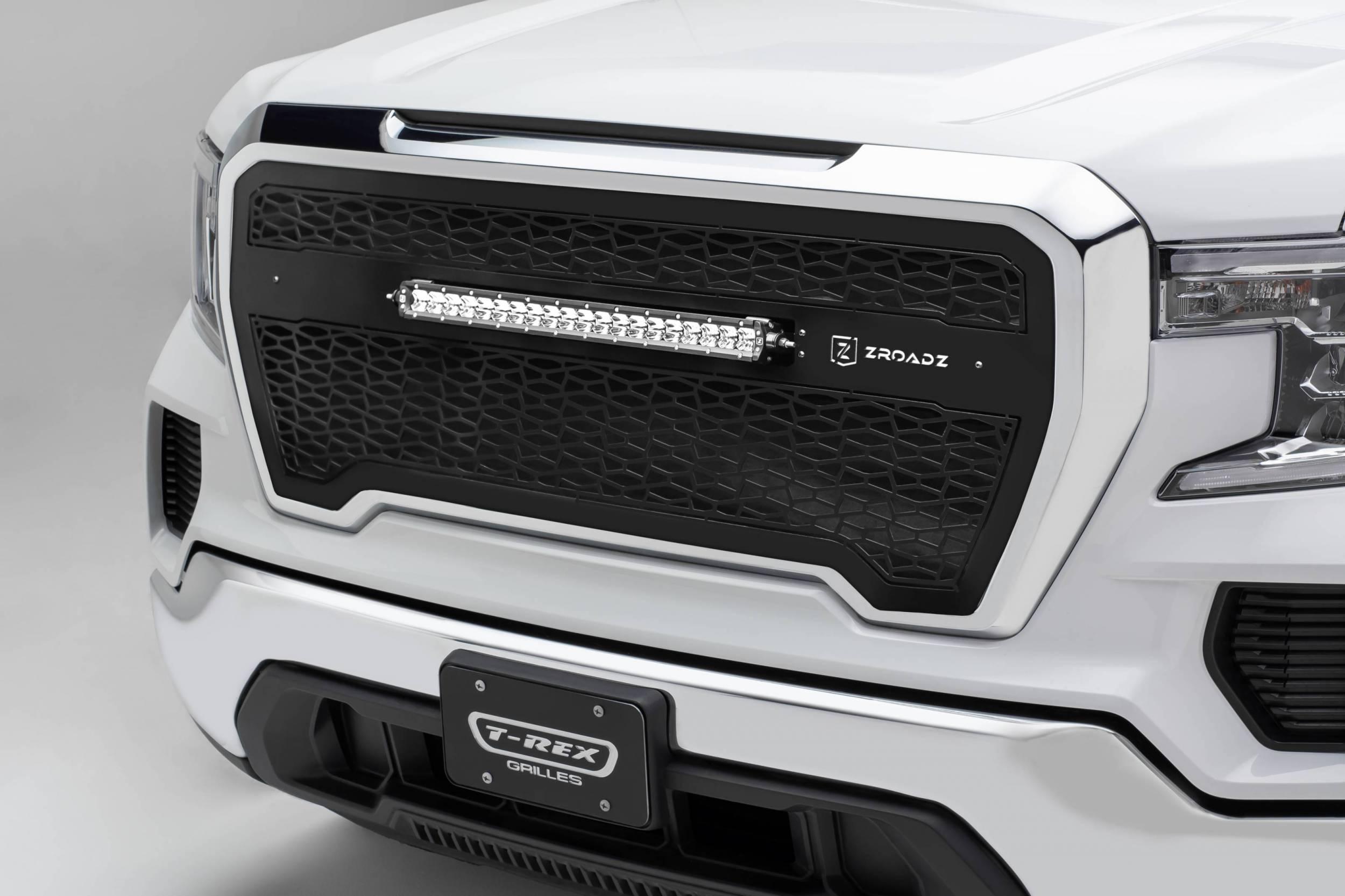 T-REX Grilles - 2019-2021 GMC  Sierra 1500 ZROADZ Grille, Black, Mild Steel, 1 Pc, Insert - PN #Z312281
