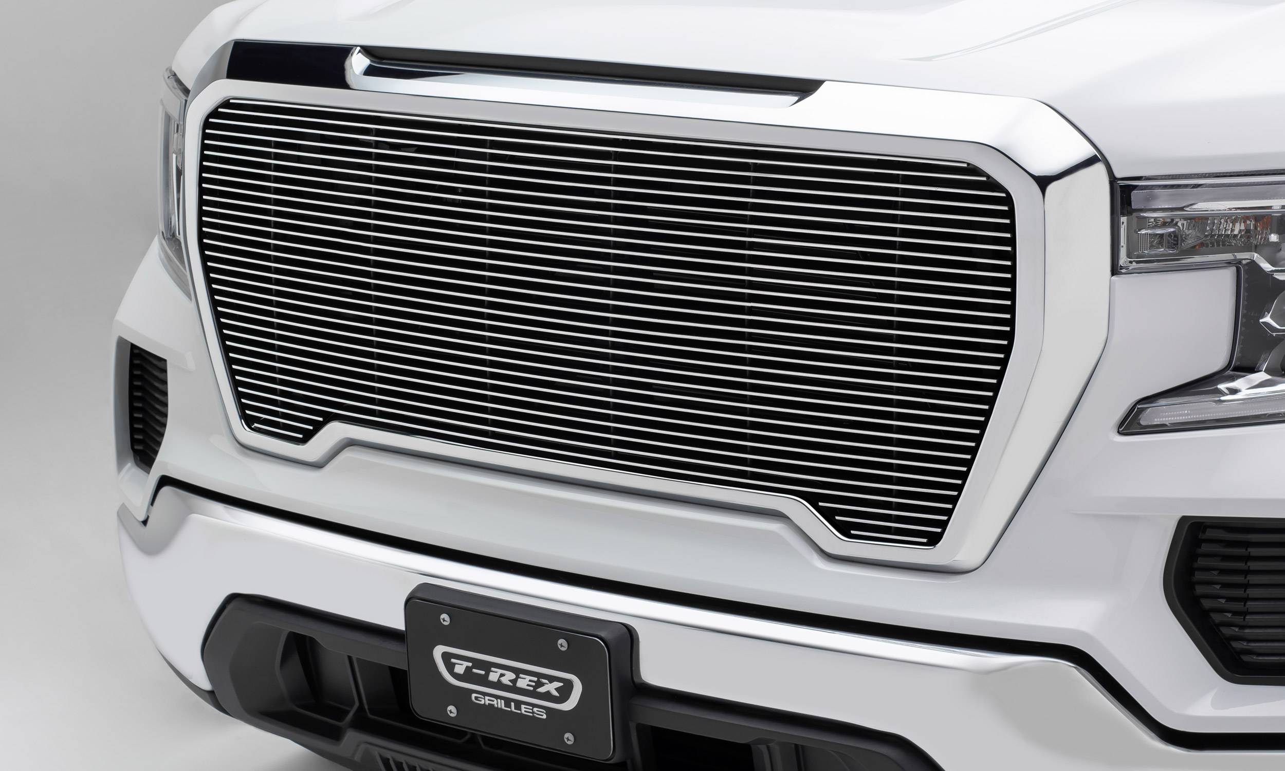 T-REX Grilles - 2019-2021 GMC Sierra 1500 Billet Grille, Polished, Aluminum, 1 Pc, Insert - PN #20213