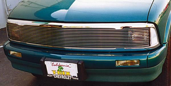 T-REX Grilles - 1995-1997 Chevrolet S-10 Blazer Billet Phantom Grille, Polished, Aluminum, 1 Pc, Insert - PN #20250