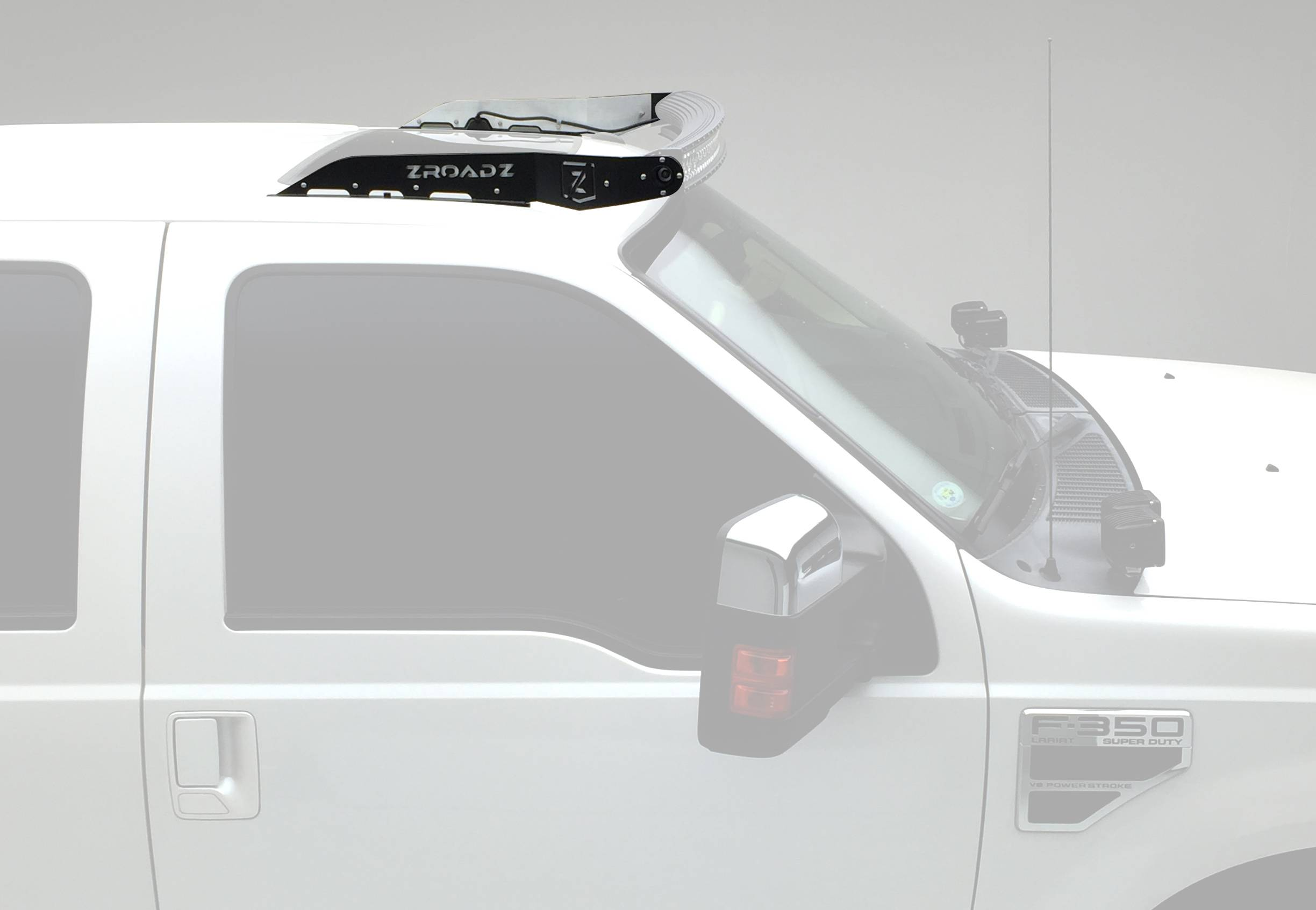 ZROADZ - 1999-2016 Ford Super Duty Front Roof LED Bracket to mount (1) 52 Inch Staight LED Light Bar - PN #Z331161