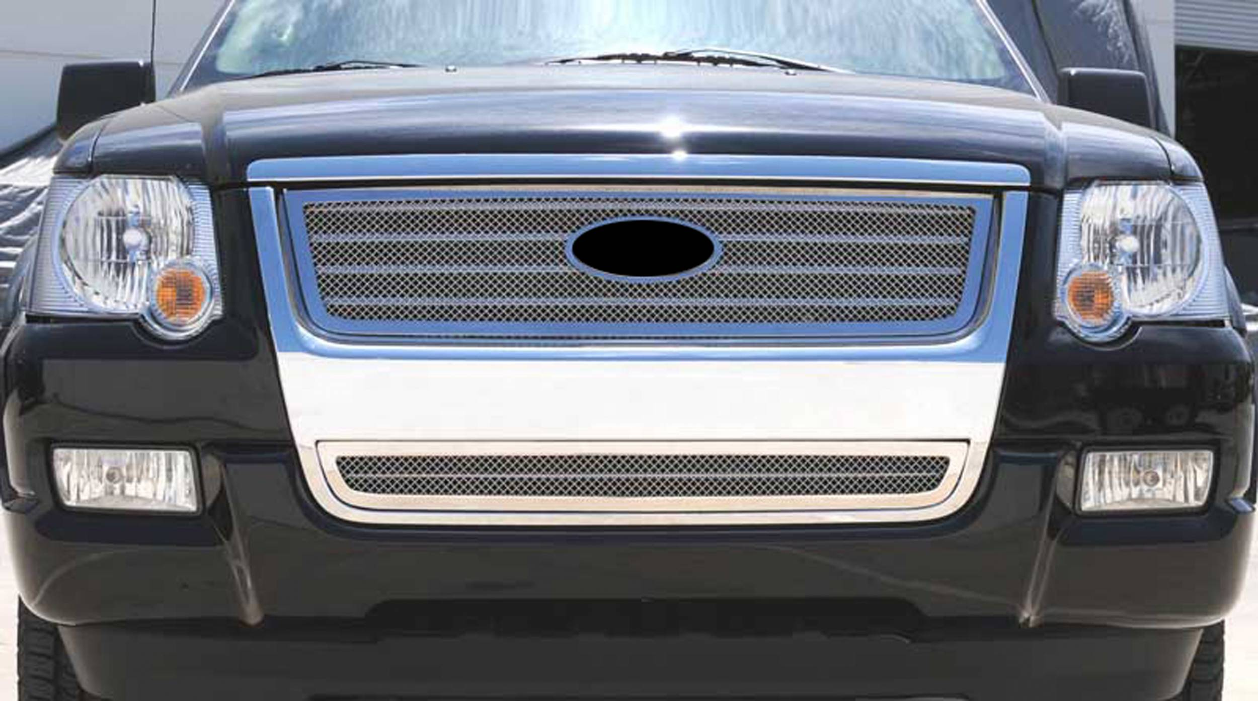 T-REX Grilles - 2006-2010 Explorer XLT, Limited Upper Class Series Main Grille, Polished, 1 Pc, Overlay - PN #54659