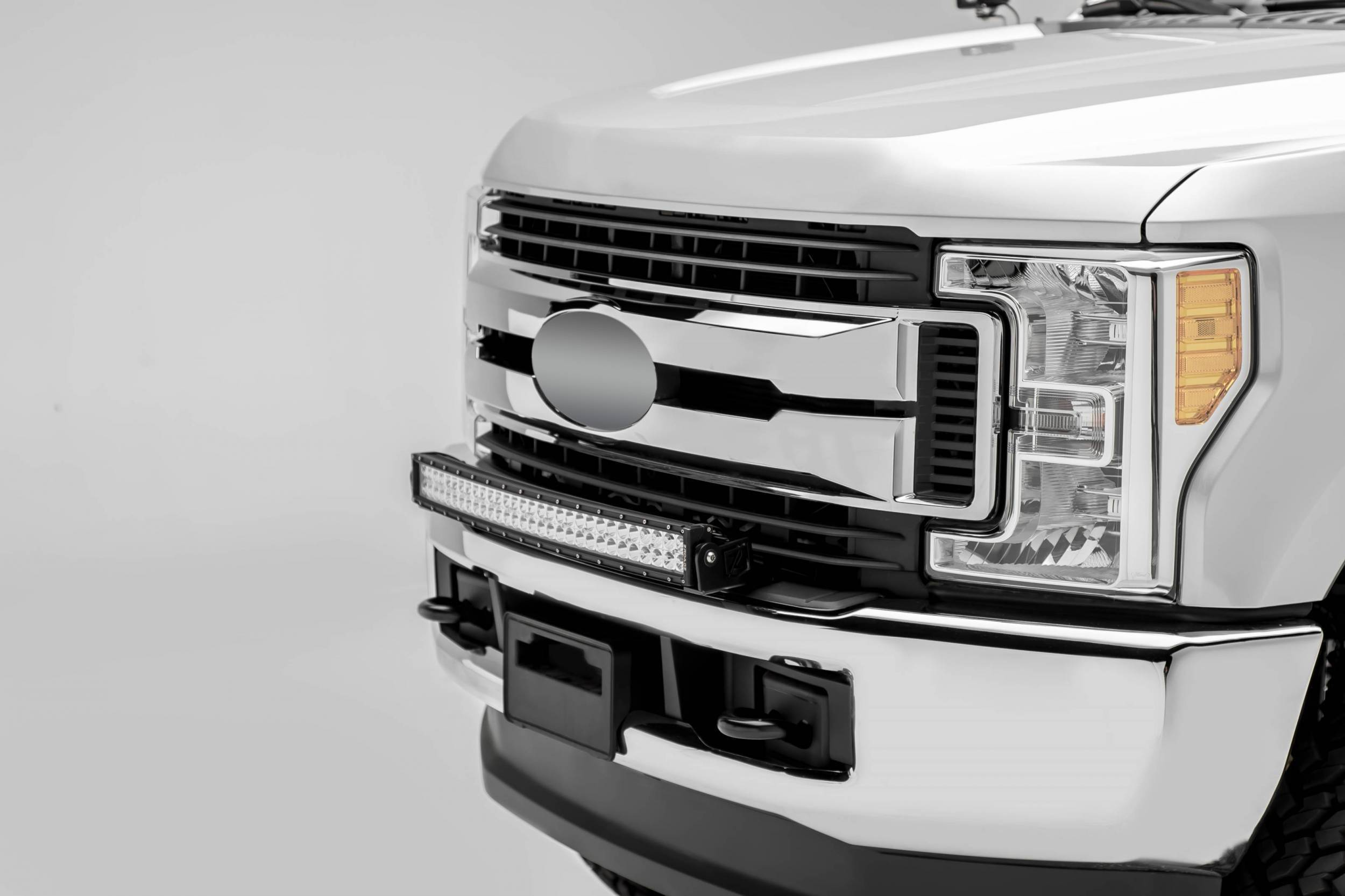 ZROADZ - 2017-2019 Ford Super Duty Front Bumper Top LED Kit with (1) 30 Inch LED Curved Double Row Light Bar - PN #Z325472-KIT