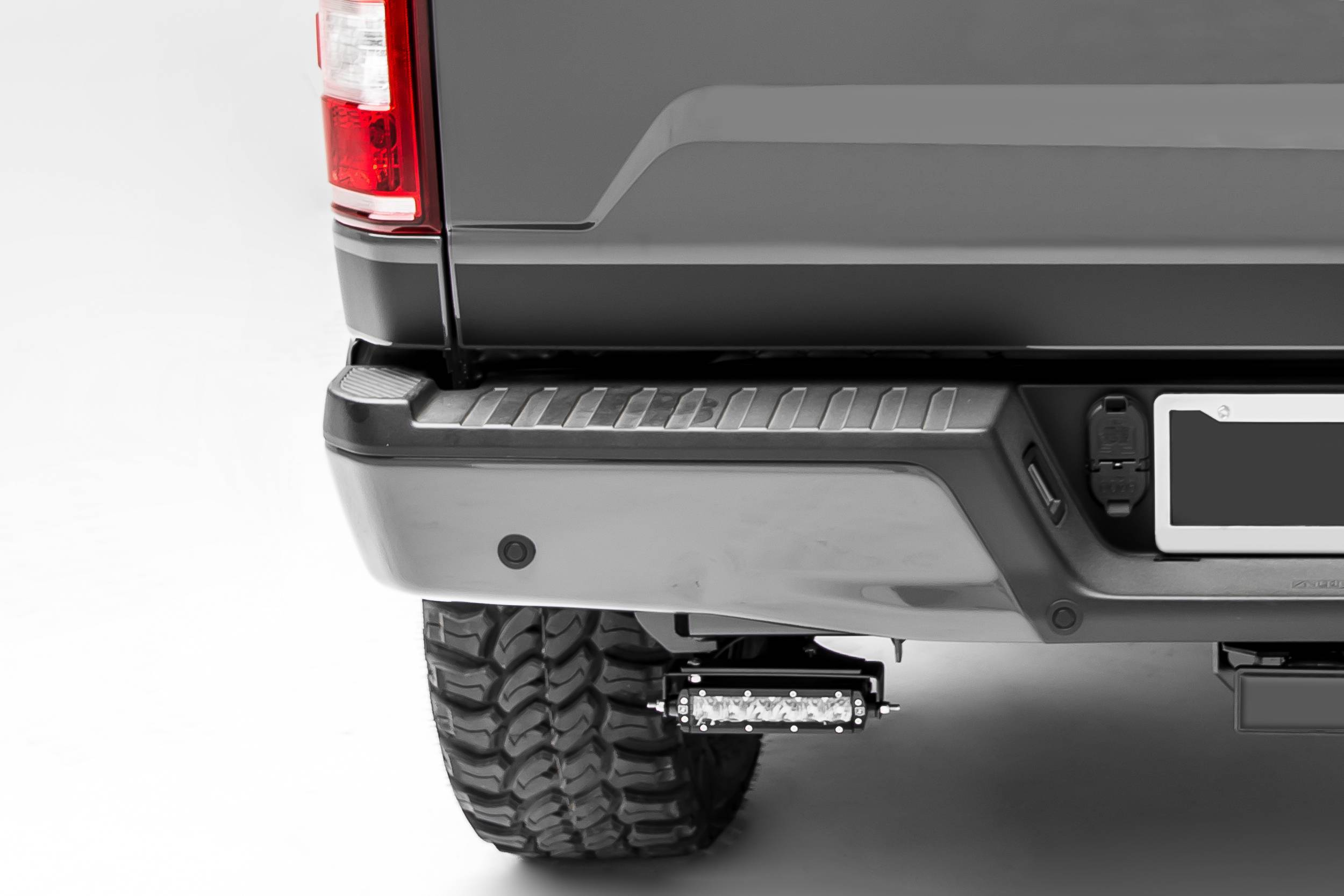 ZROADZ OFF ROAD PRODUCTS - 2018-2021 Ford Rear Bumper LED Kit with (2) 6 Inch LED Straight Single Row Slim Light Bars - PN #Z385662-KIT