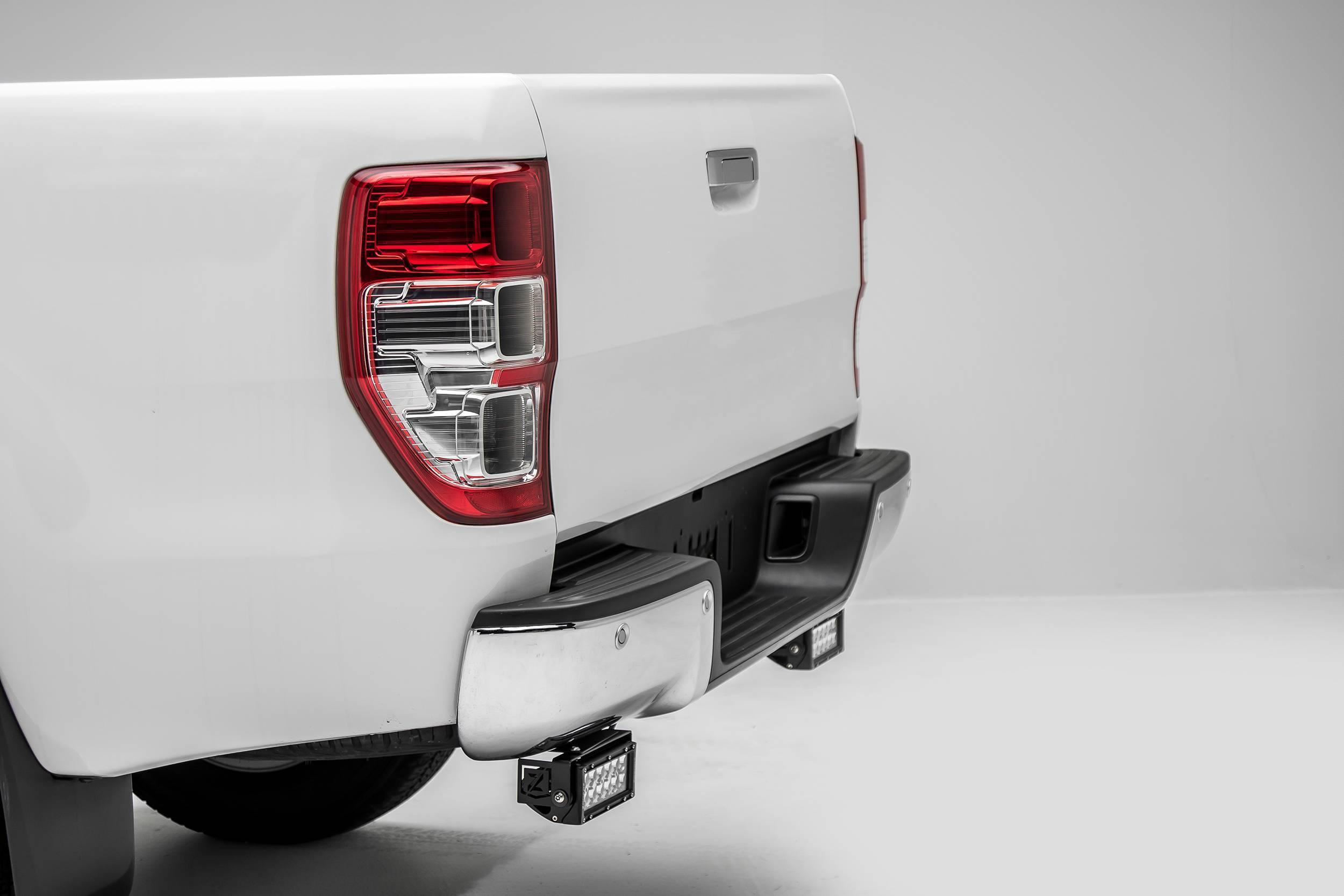 ZROADZ OFF ROAD PRODUCTS - 2015-2018 Ford Ranger T6 Rear Bumper LED Bracket to mount (2) 6 Inch Straight Light Bar - PN #Z385761