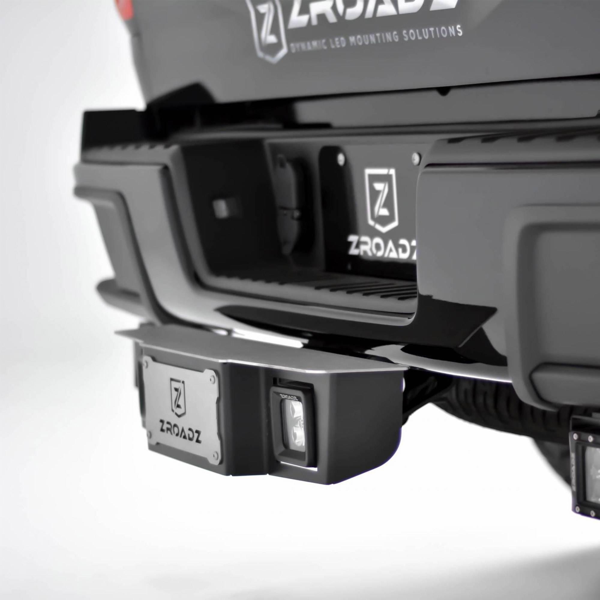 ZROADZ - Universal Hitch Step LED Kit with (2) 3 Inch LED Pod Lights, 2 Inch Hitch Receiver - PN #Z390010-KIT