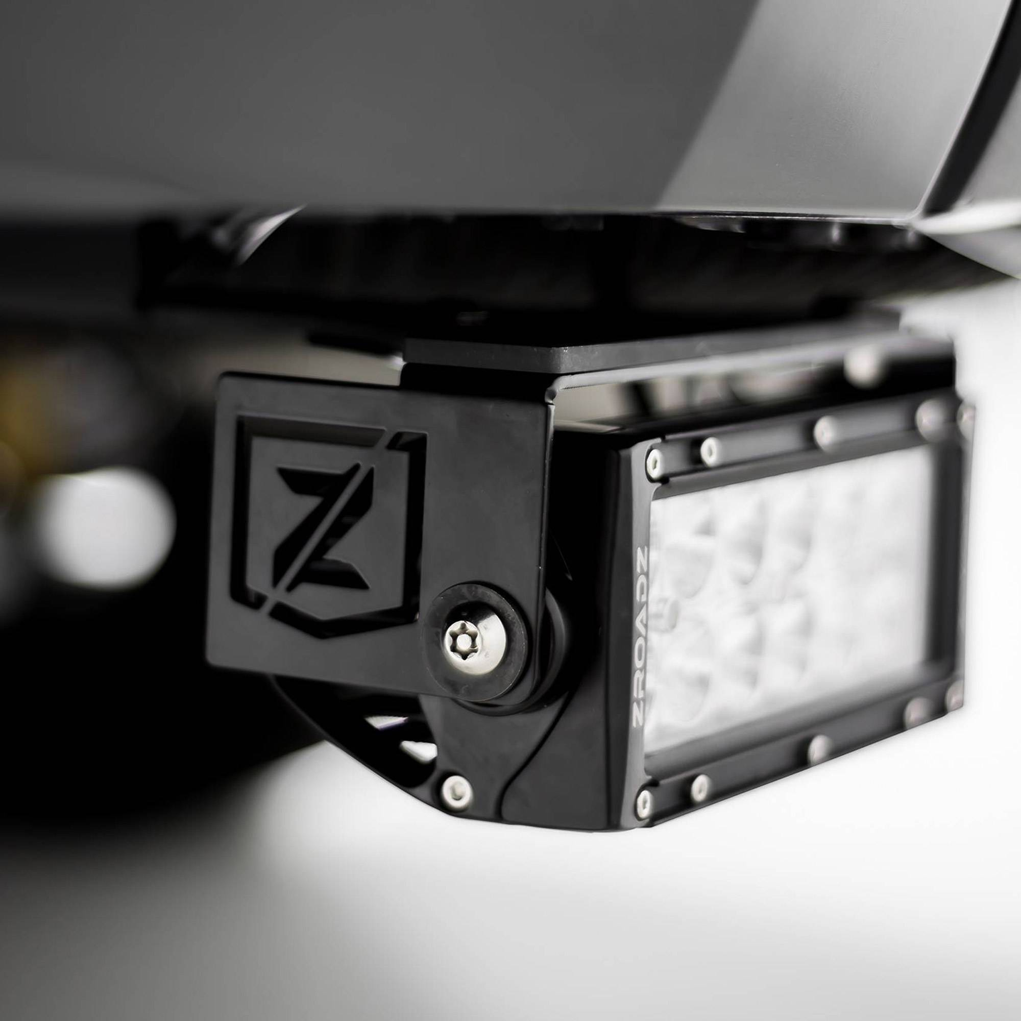 ZROADZ OFF ROAD PRODUCTS - 2014-2021 Toyota Tundra Rear Bumper LED Kit with (2) 6 Inch LED Straight Double Row Light Bars - PN #Z389641-KIT