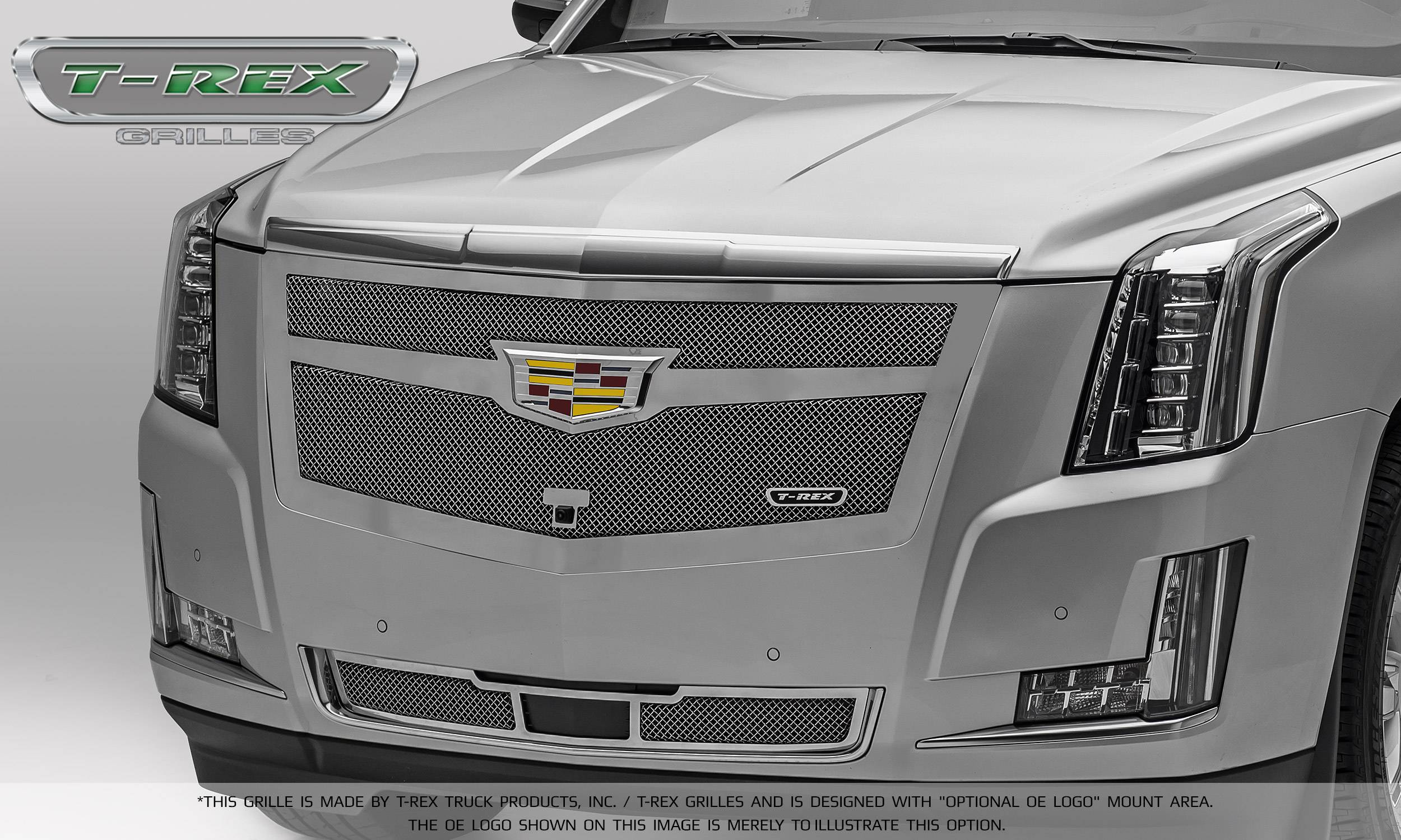T-REX Grilles - 2015-2015 Escalade Upper Class Series Main Mesh Grille, Chrome, 1 Pc, Replacement - PN #56183