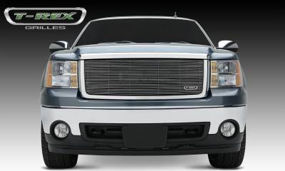 T-REX Grilles - 2007-2013 Sierra 1500 All Terrain Billet Grille, Polished, 1 Pc, Insert - PN #20204