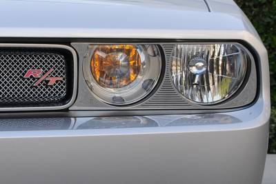 Accessories for Trucks & Cars - T1 Billet Accessories - T-REX Dodge Challenger ALL T1 Series Headlamp Bezels - 2 Pc - Pt # 11415